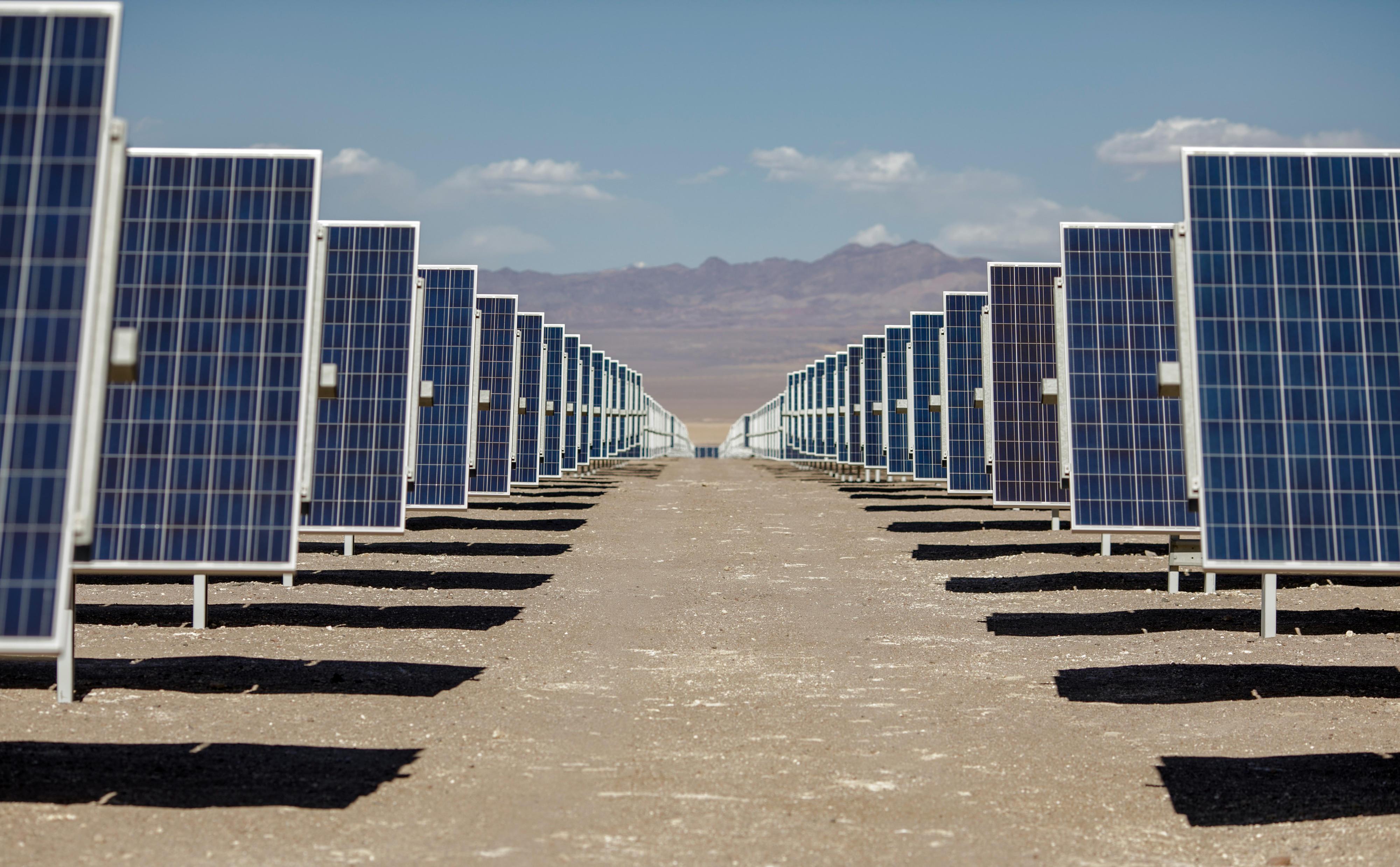 Solaranlage Solar Jama in der Atacama-Wüste in Chile