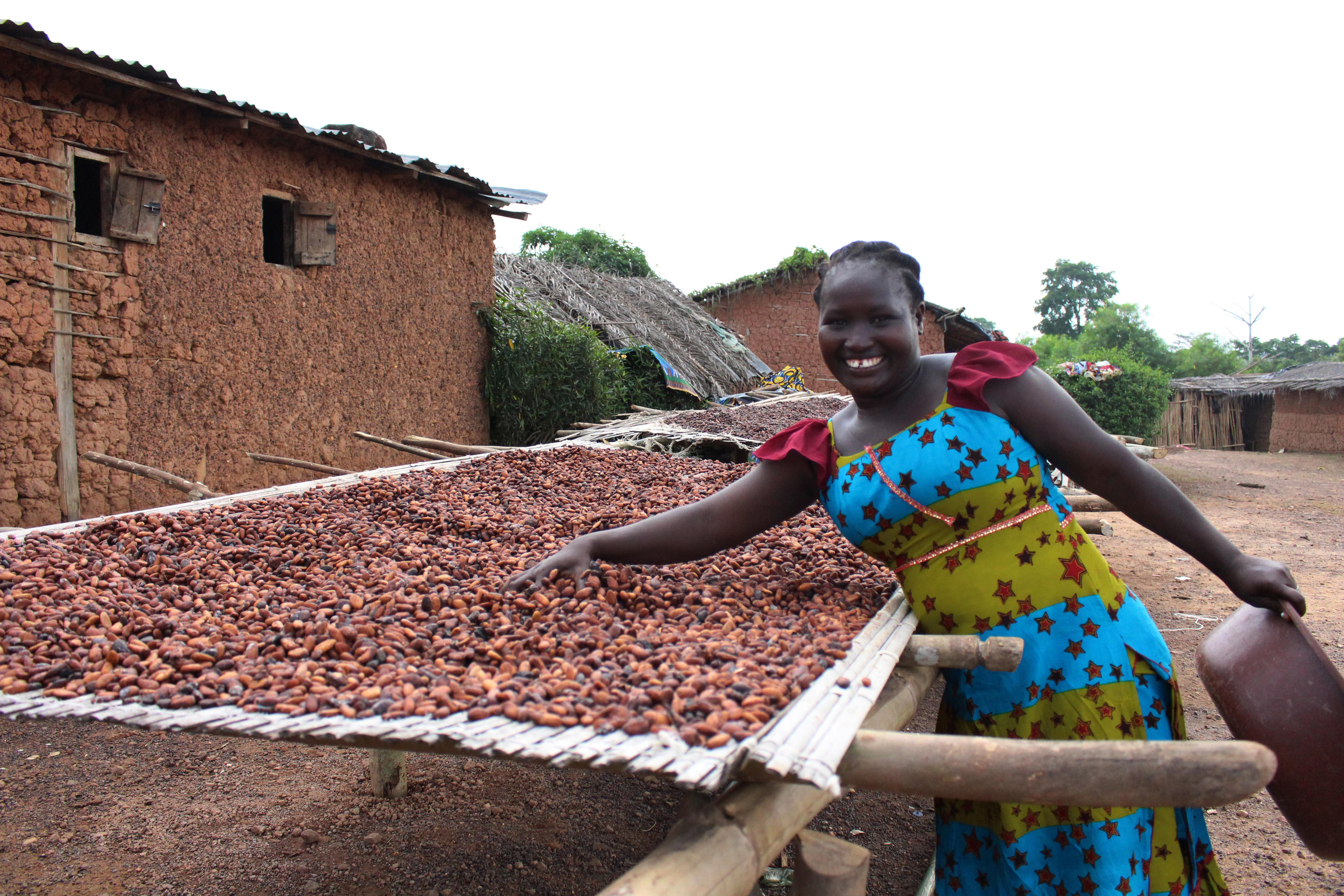Mitglied einer Kakao-Kooperative in Côte d'Ivoire