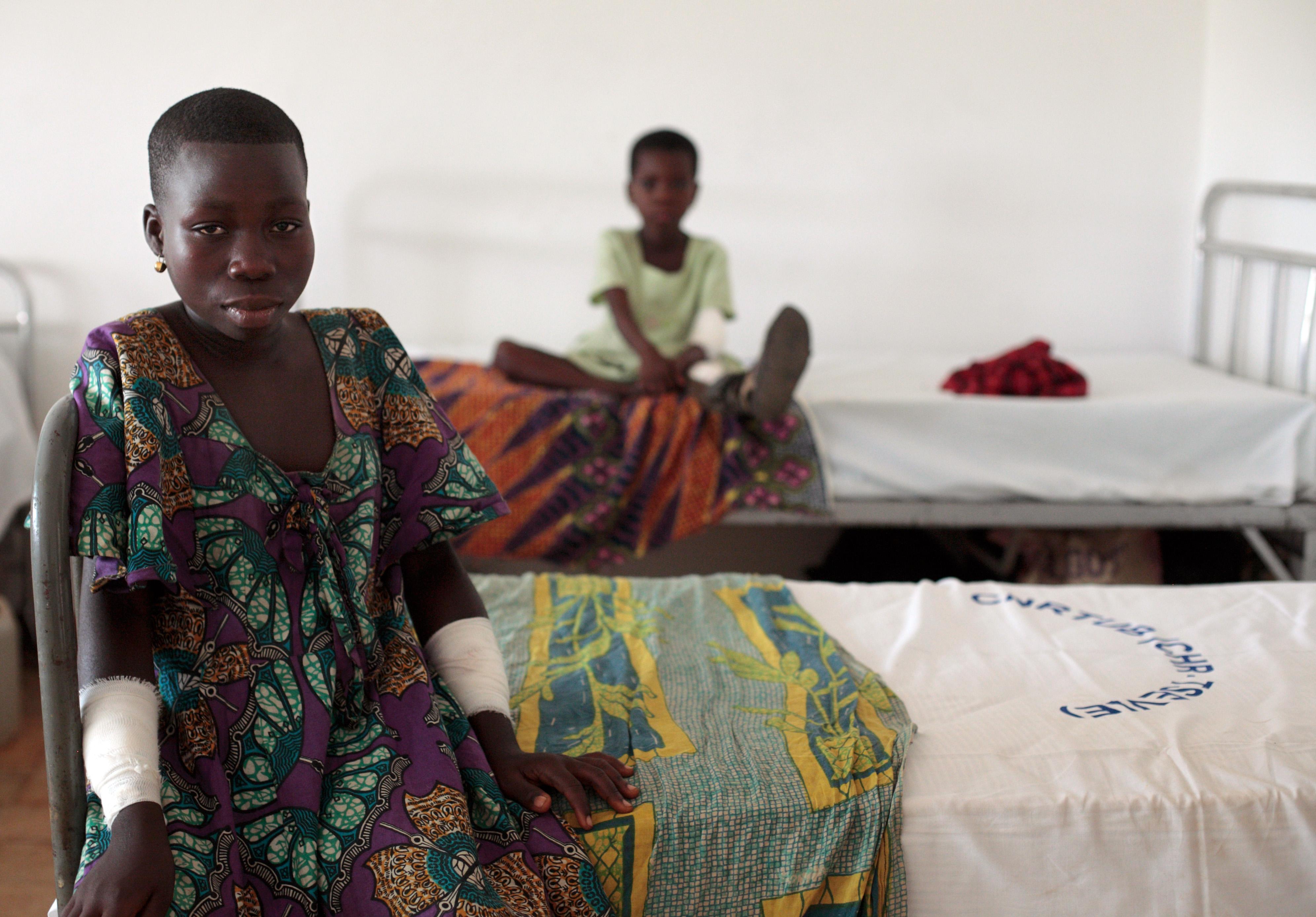 Kinder in einem Krankenhaus des von der Deutschen Lepra- und Tuberkulosehilfe finanzierten Zentrums zur Bekämpfung der Tropenkrankheit Buruli in Togo