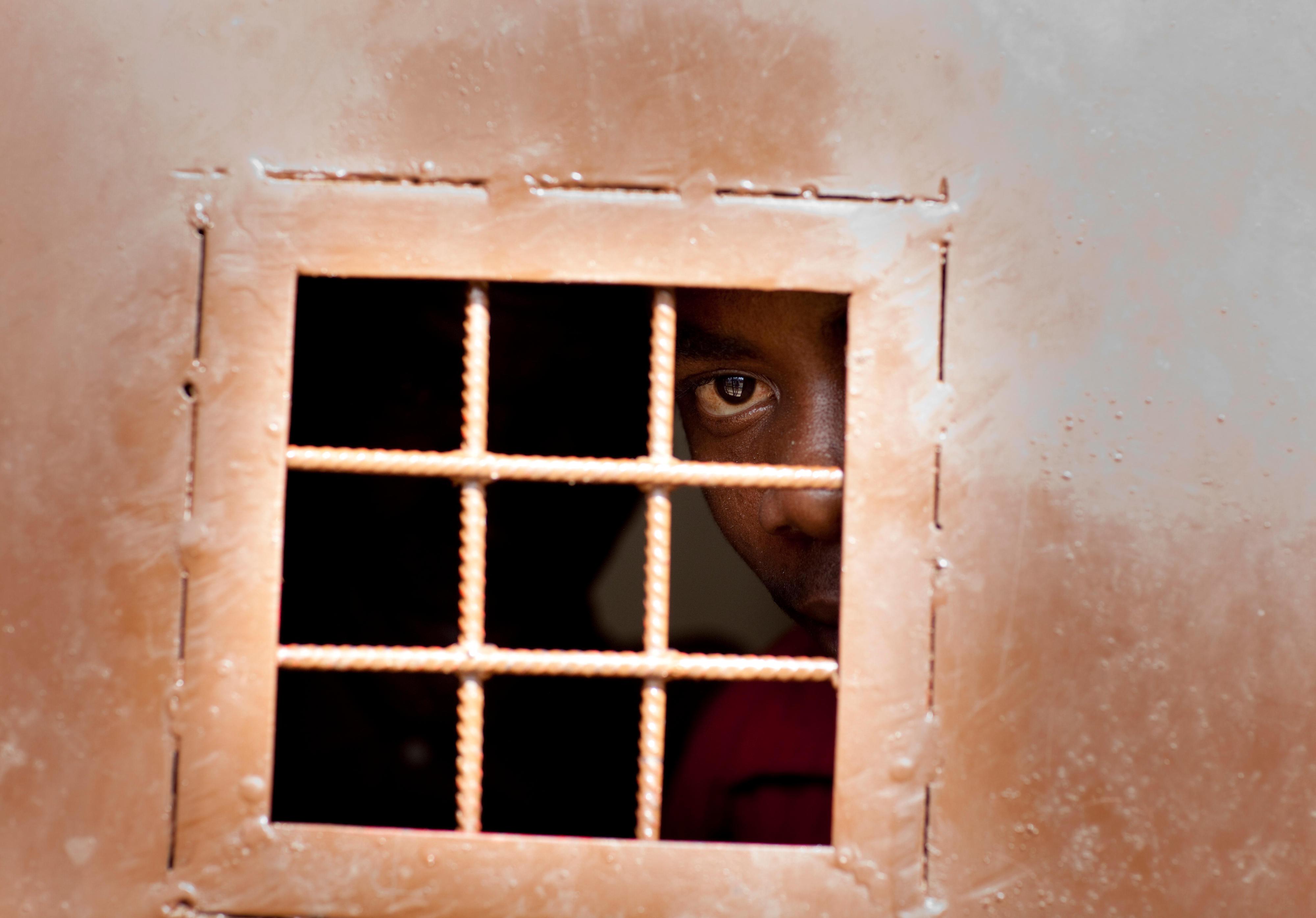 Häftling in Bujumbura, Burundi