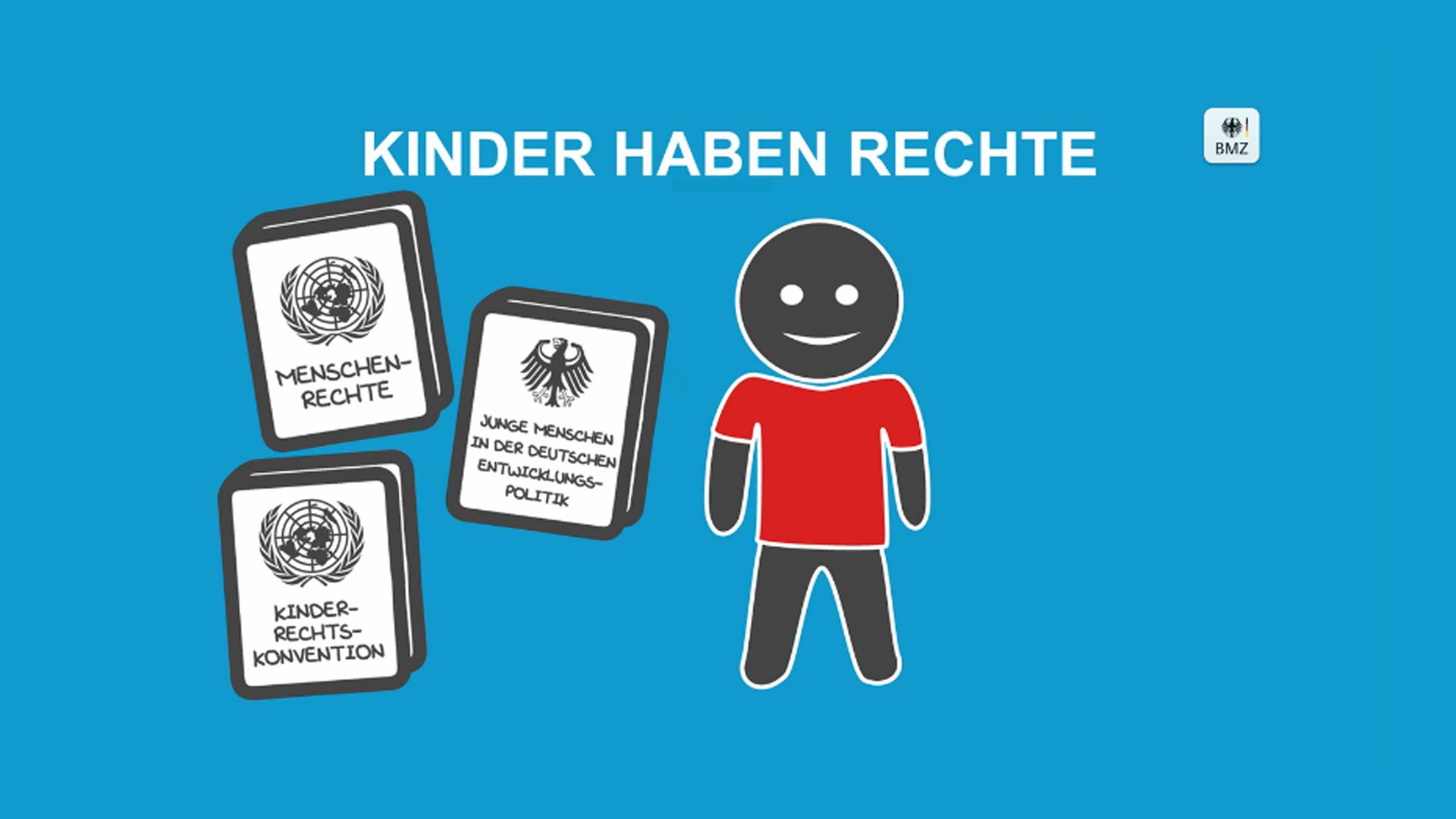 """Standbild aus dem BMZ-Video """"Kinder haben ein Recht auf Rechte!"""""""