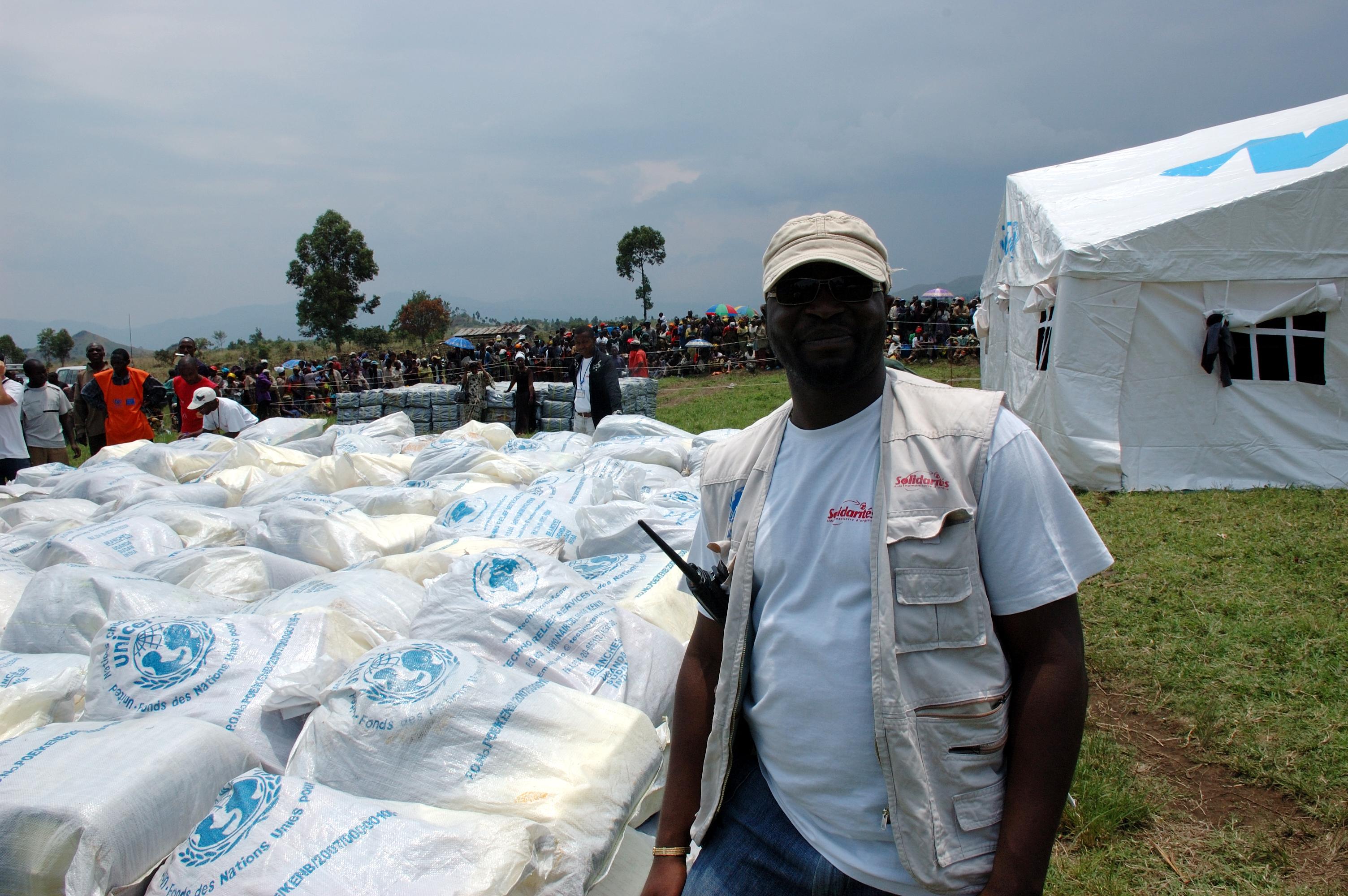 Nothilfeversorgung durch UNICEF und lokale Partner für Geflüchtete in der Demokratischen Republik Kongo
