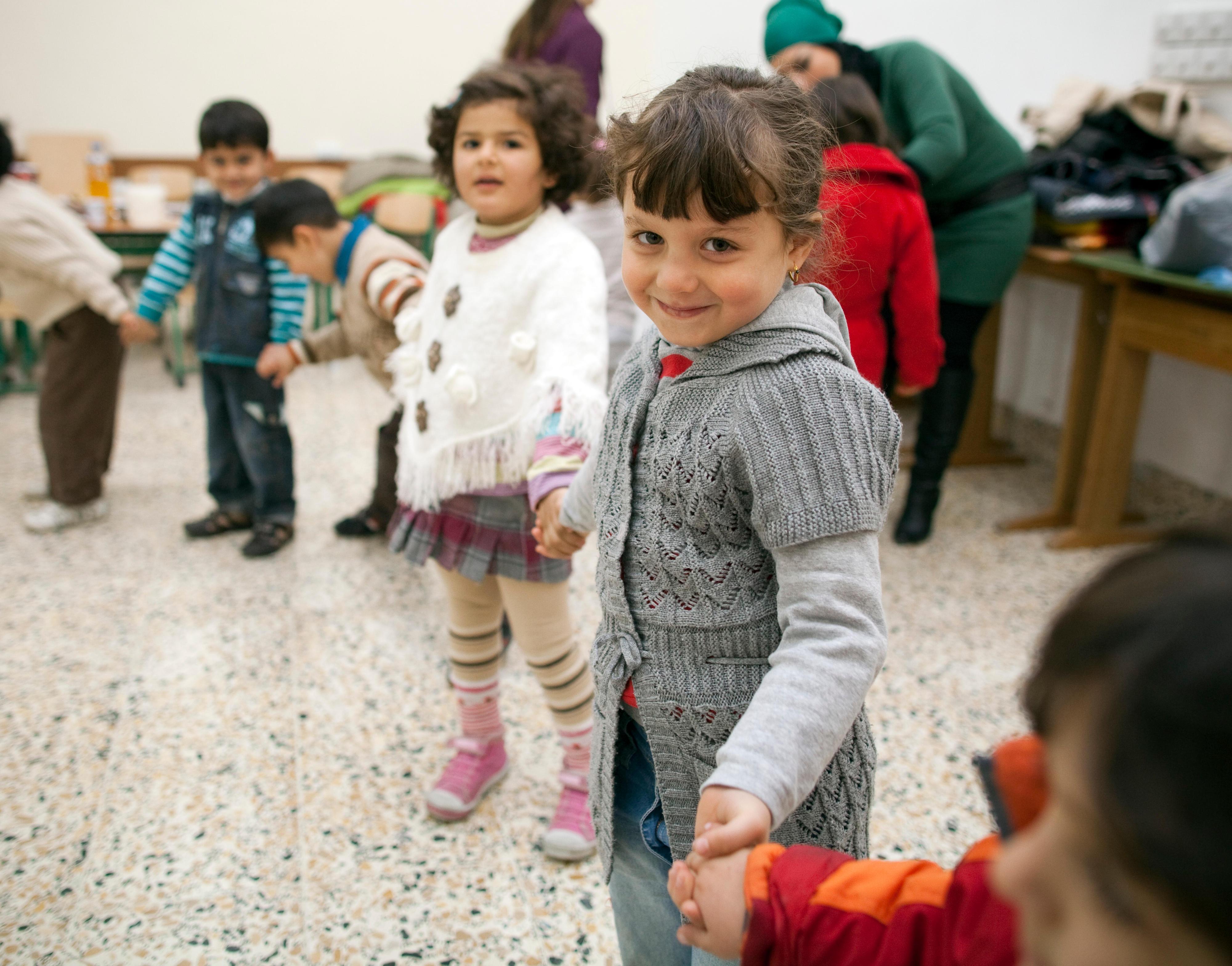 Kinder in der Vorschule der deutschen Schule in Erbil, Irak