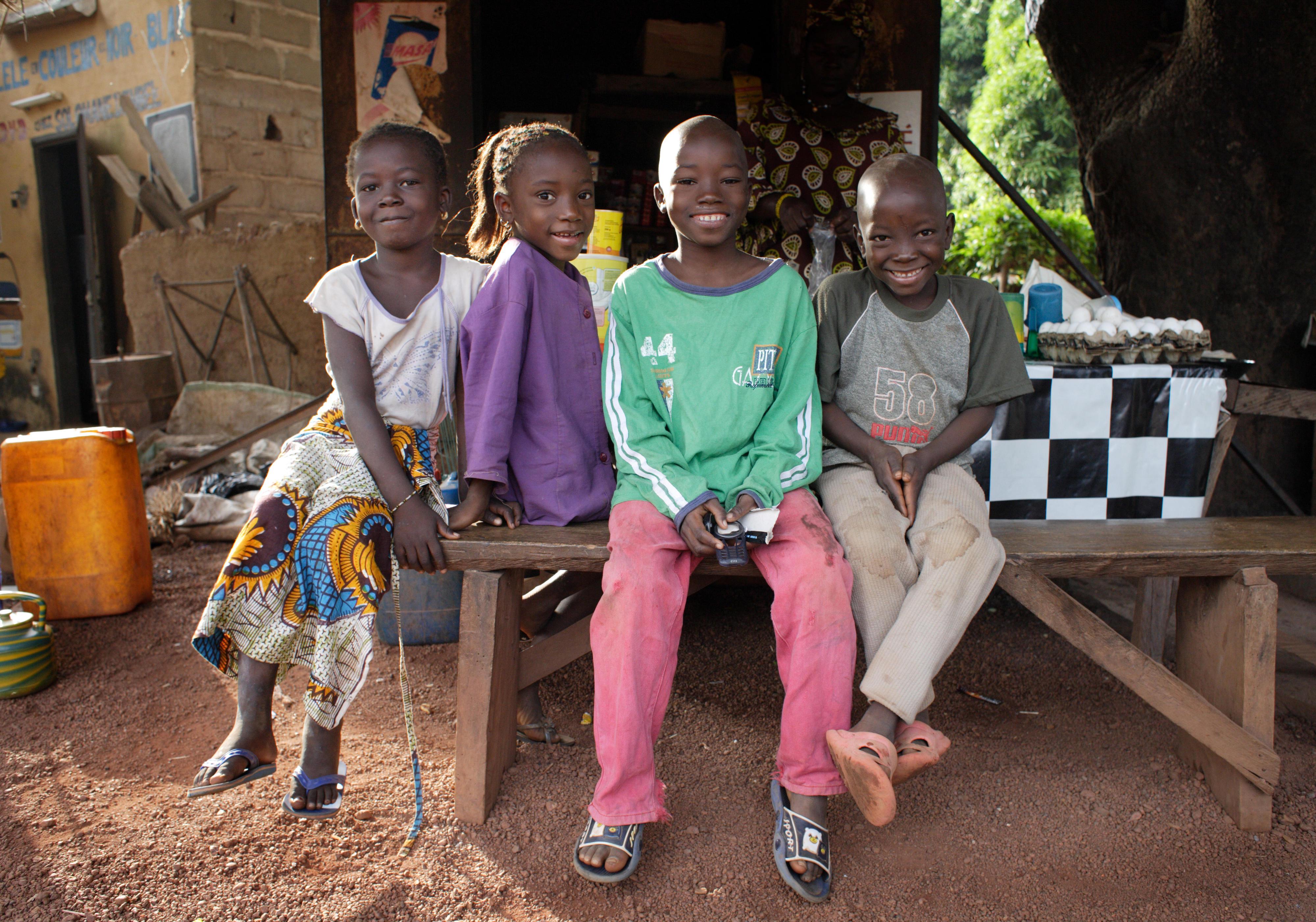 Kinder in Bobo, Burkina Faso