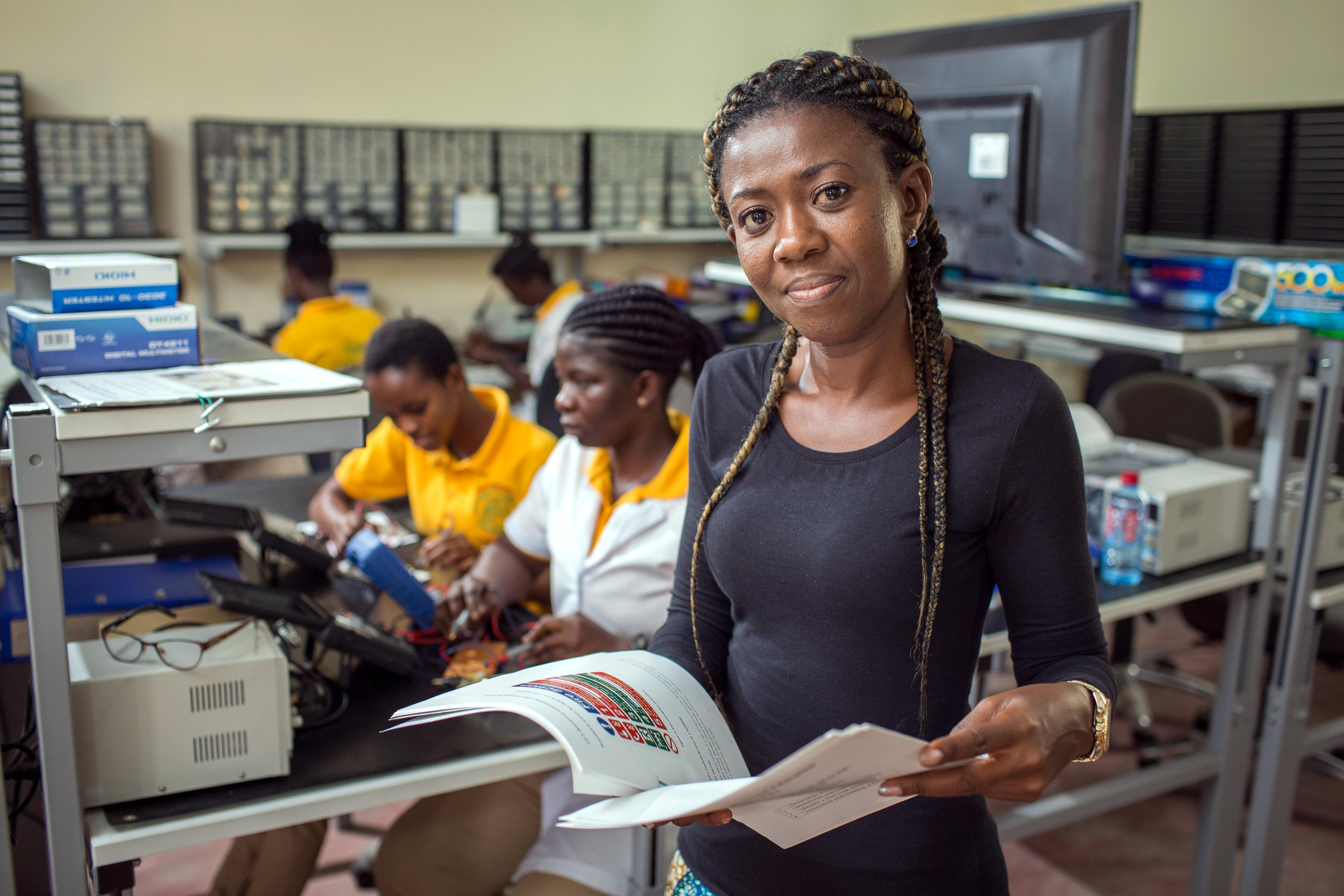 Berufsschule in Ghana