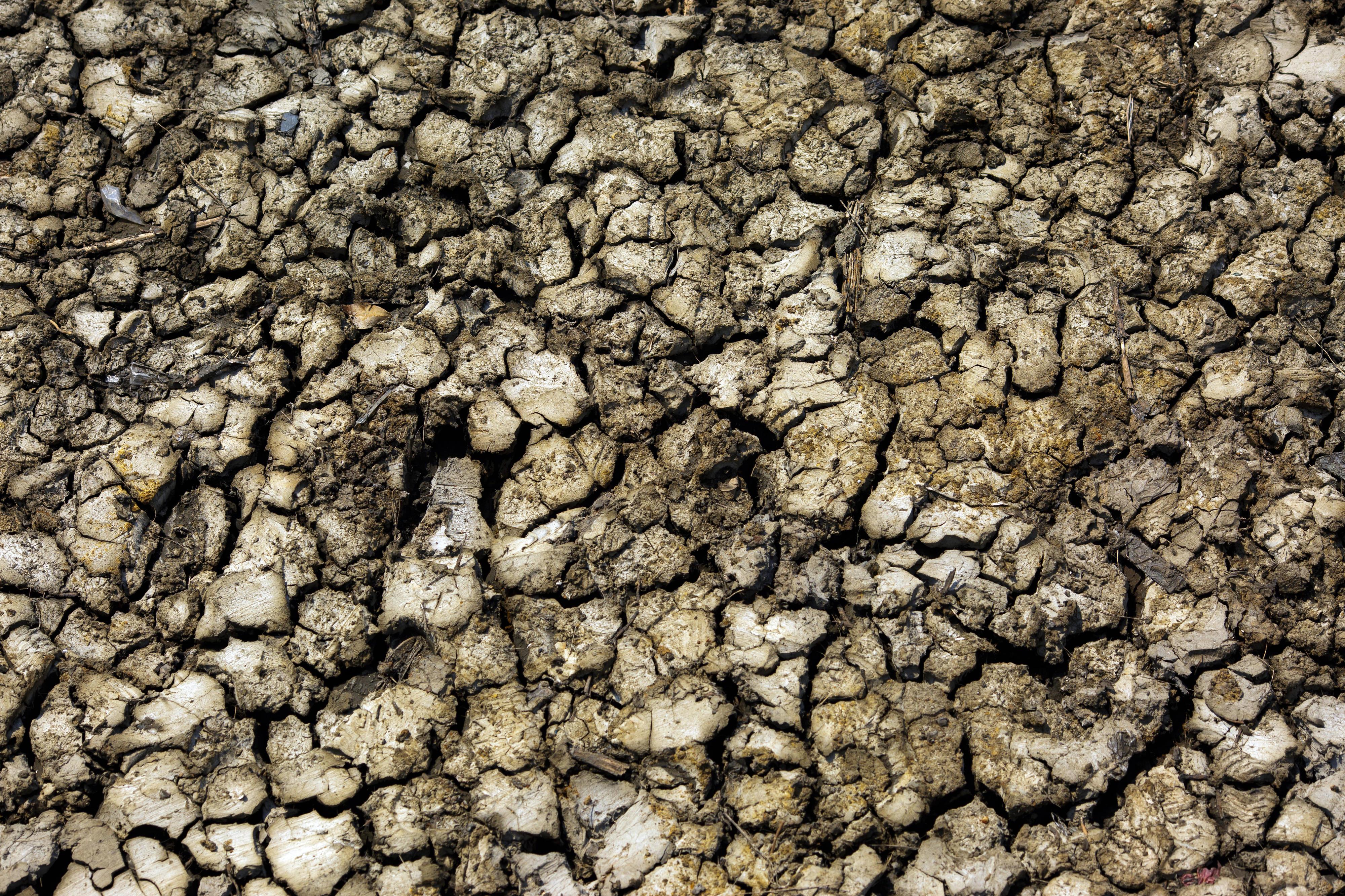 Ausgetrockneter Boden in Beira (Mosambik)