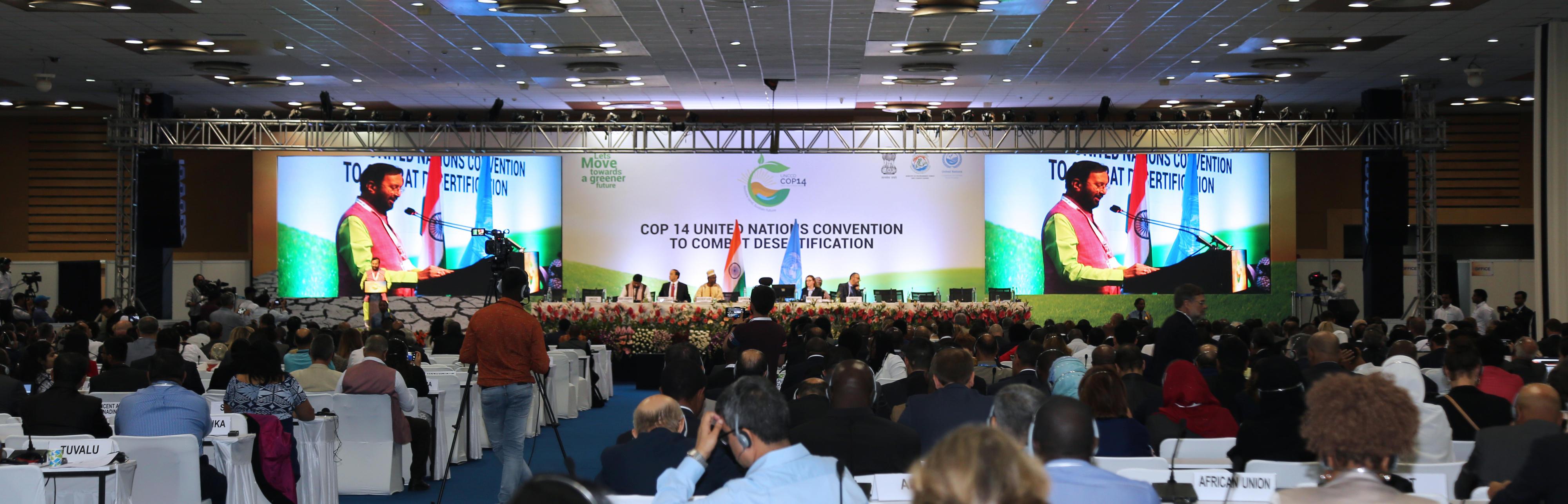 UNCCD COP14 in Neu-Delhi, Indien, September 2019