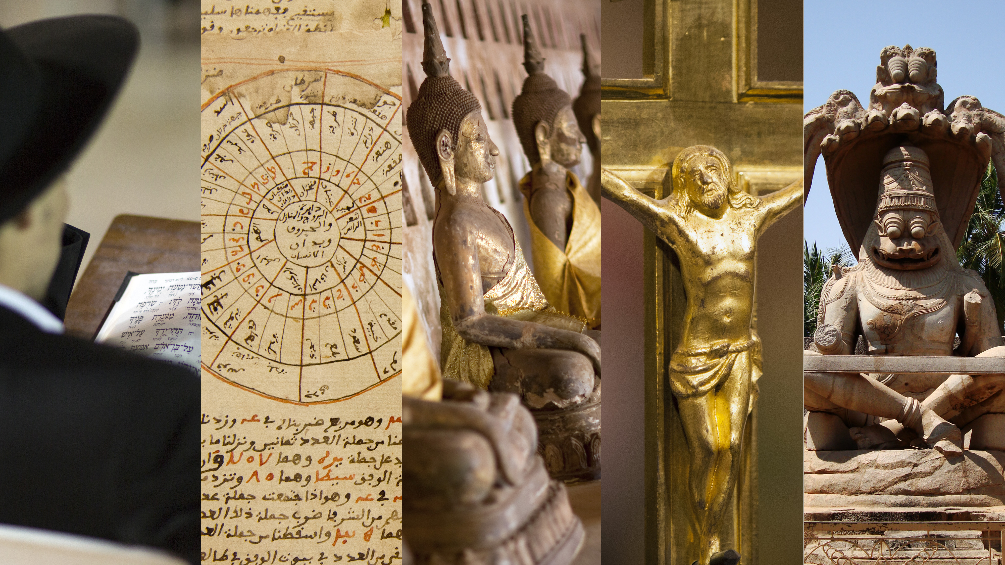 Weltreligionen: Judentum, Islam, Buddhismus, Christentum, Hinduismus