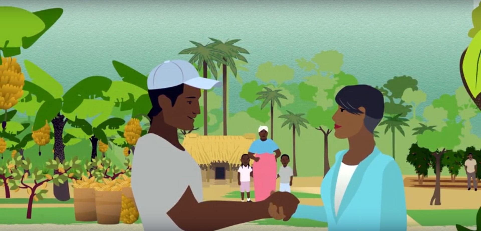 """Standbild aus dem Video """"Faires Einkommen erreichen"""""""