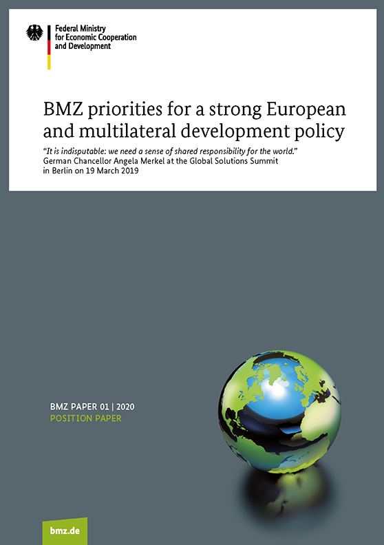 BMZ priorities for a strong European and multilateral development policy