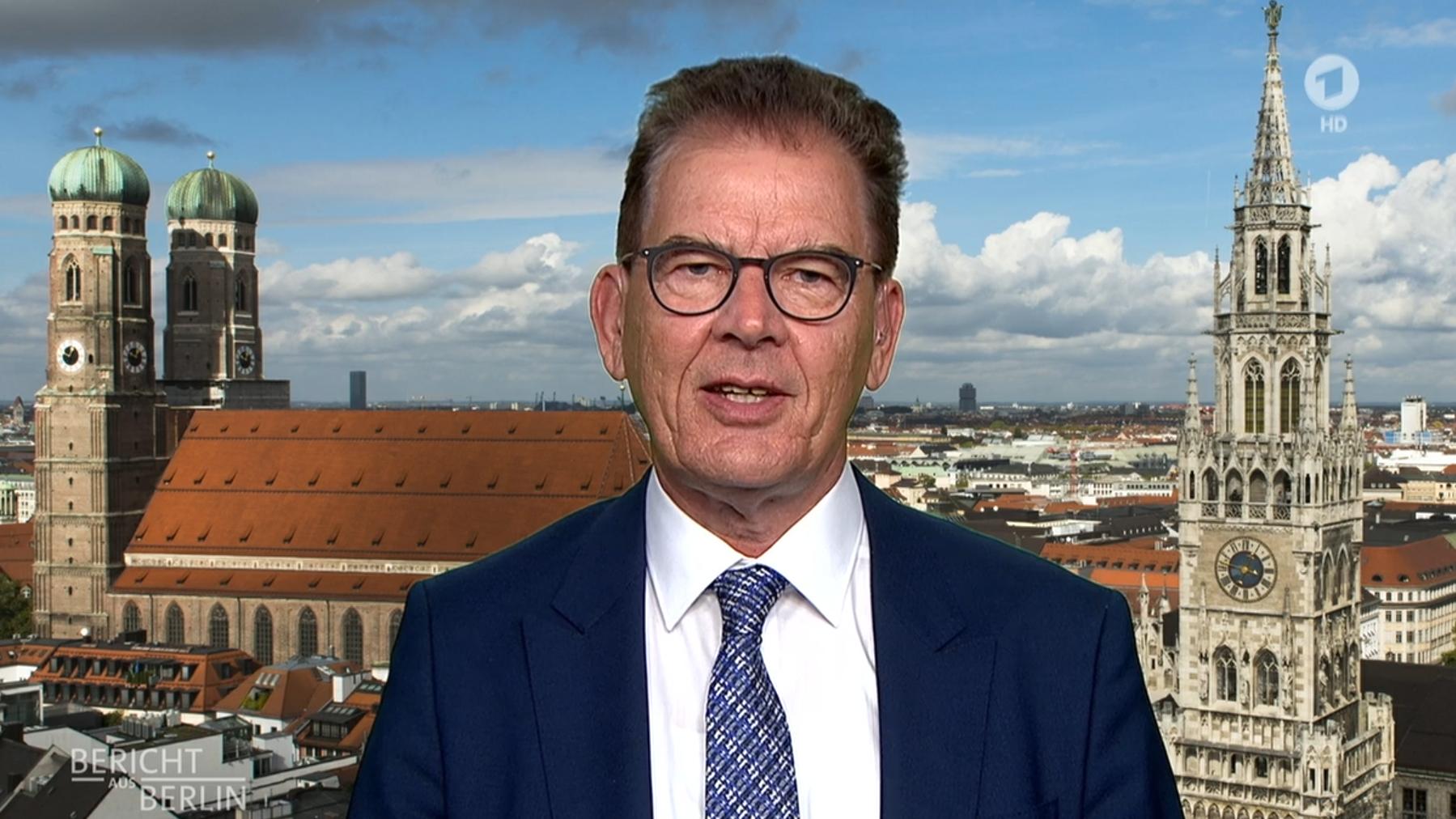 Standbild aus dem Interview der ARD mit Minister Müller am 7. Juni 2020 im Bericht aus Berlin.