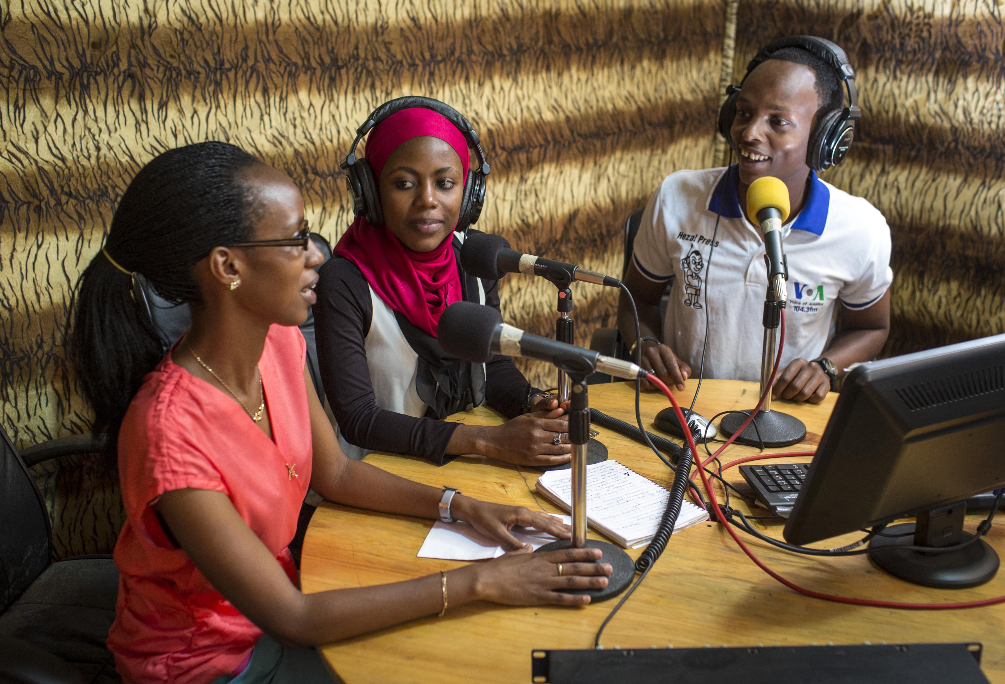 Studio eines Radiosenders in Ruanda