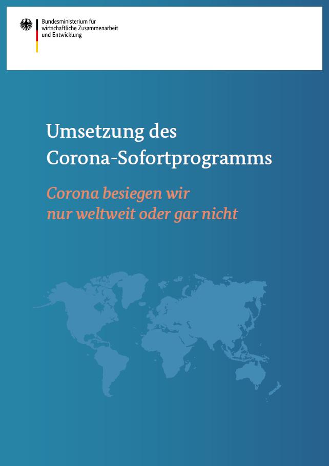 Titelblatt: Umsetzung des Corona-Sofortprogramms