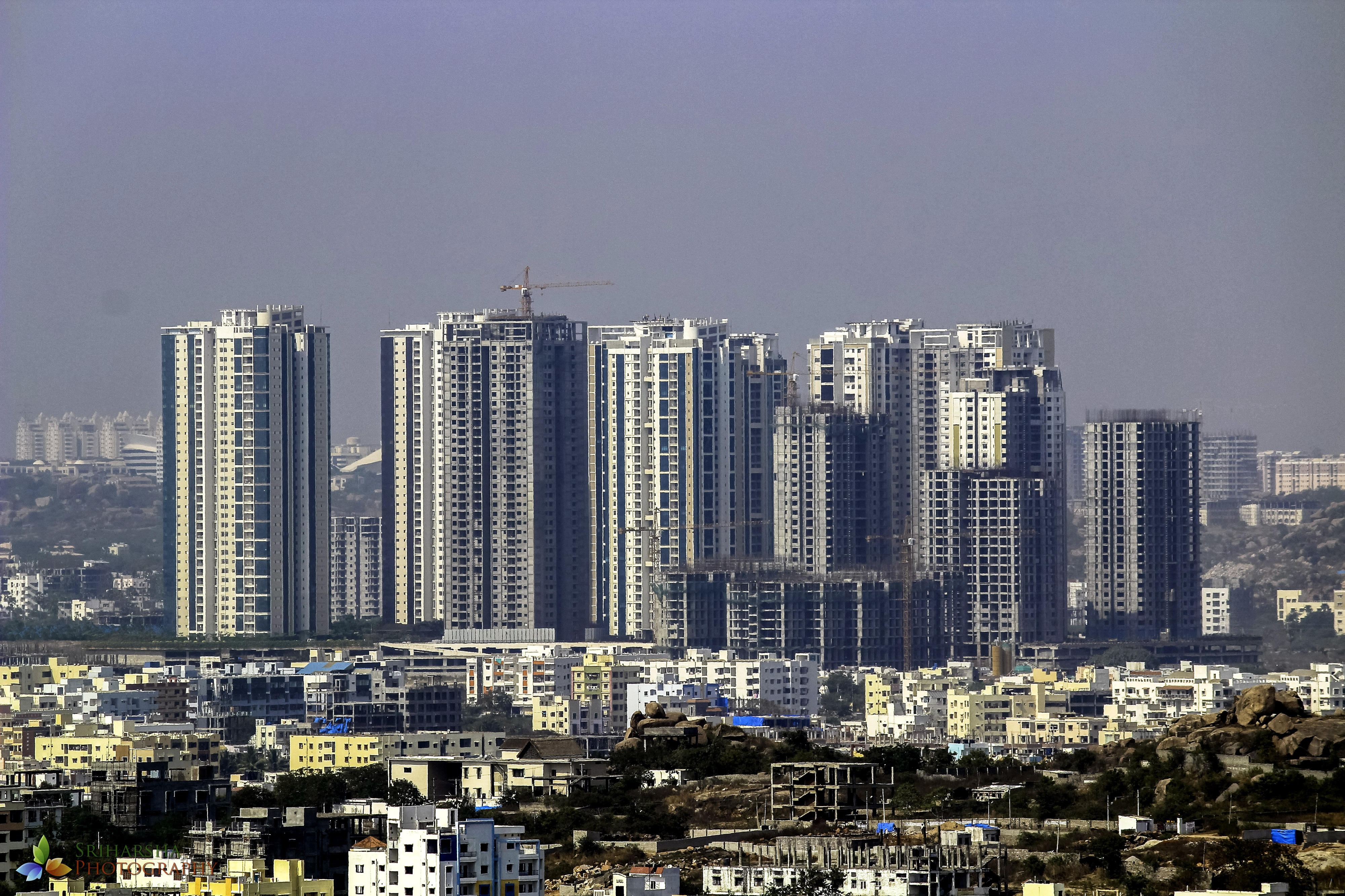 Skyline von Hyderabad, Indien