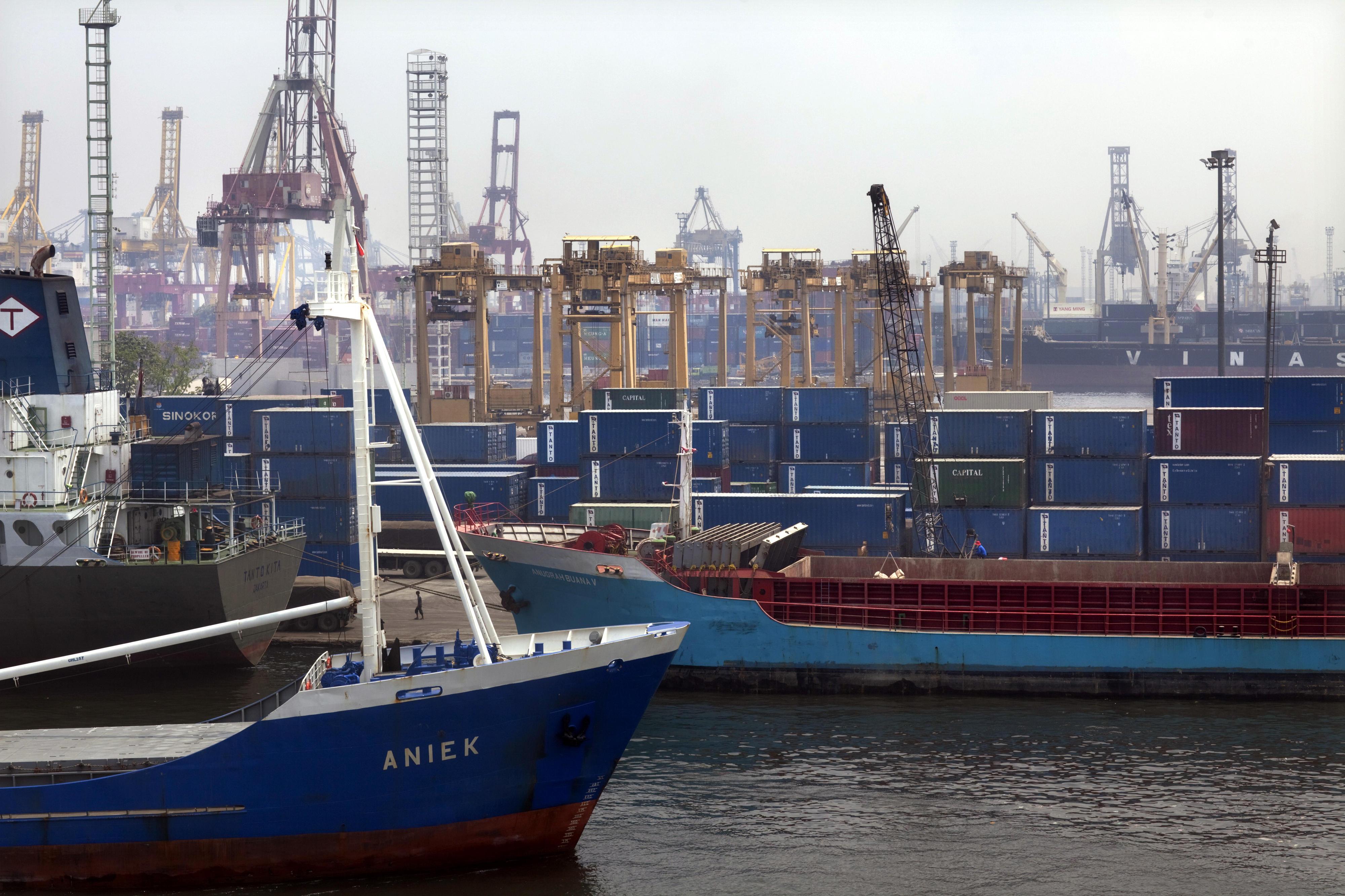 Hafen von Jakarta, Indonesien