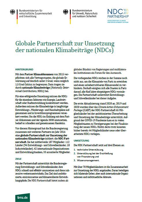 cover globale partnerschaft ndc