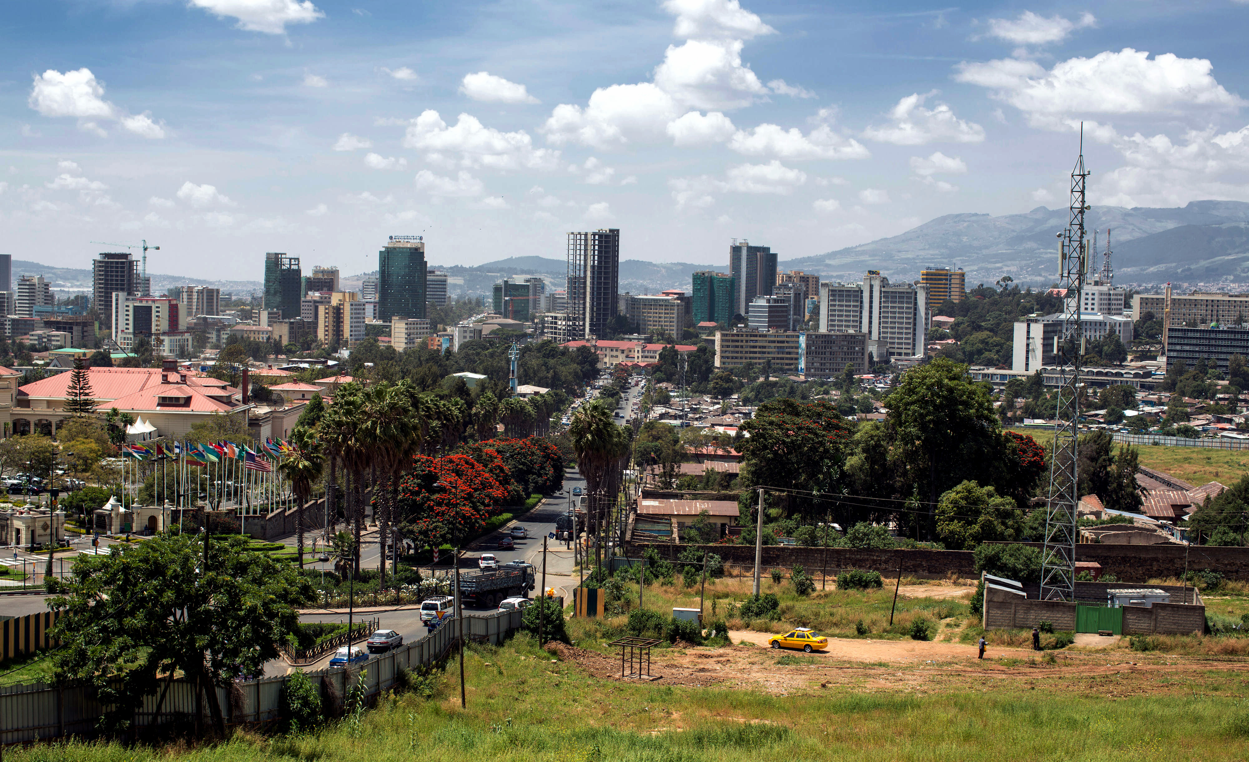View of Addis Ababa, the capital of Ethiopia