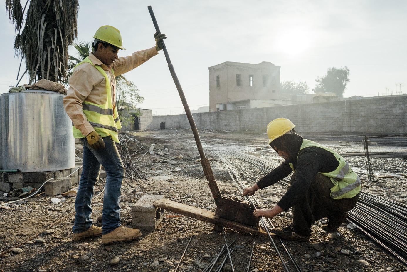 Im Nordirak werden der Wiederaufbau zerstörter Infrastruktur und das friedliche und inklusive Zusammenleben gefördert.