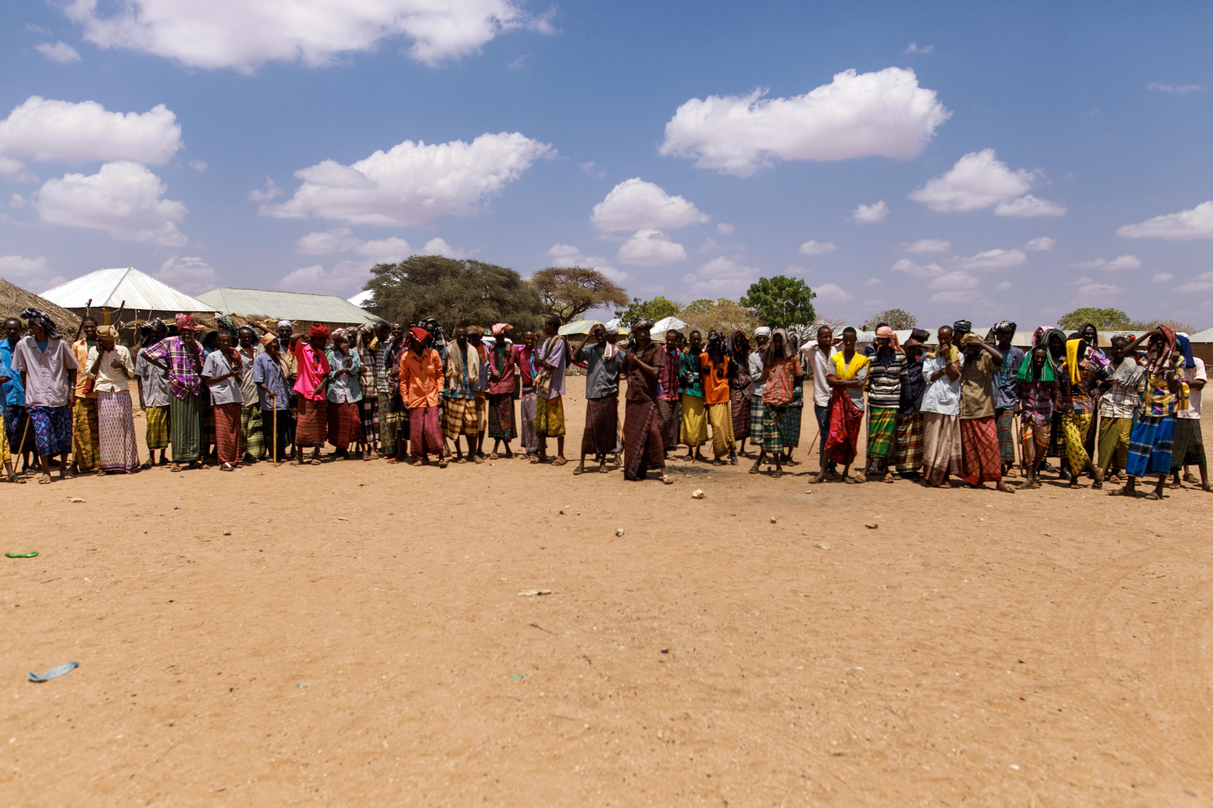 Ethiopian nomads who have settled in a village in the Somali region of Ethiopia due to persistent drought.