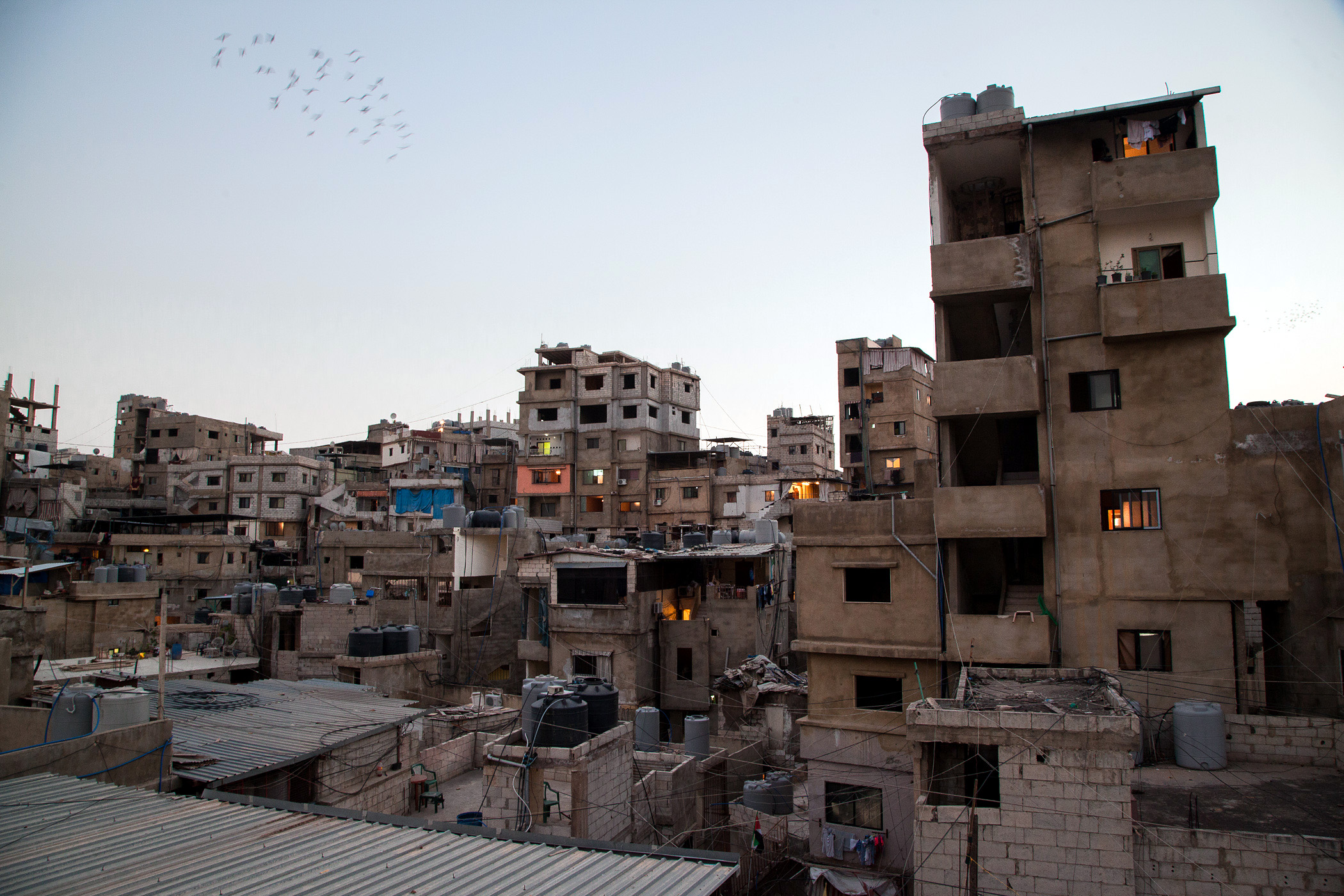 The Bourj el-Barajneh camp for Palestinian refugees in the Lebanese capital Beirut