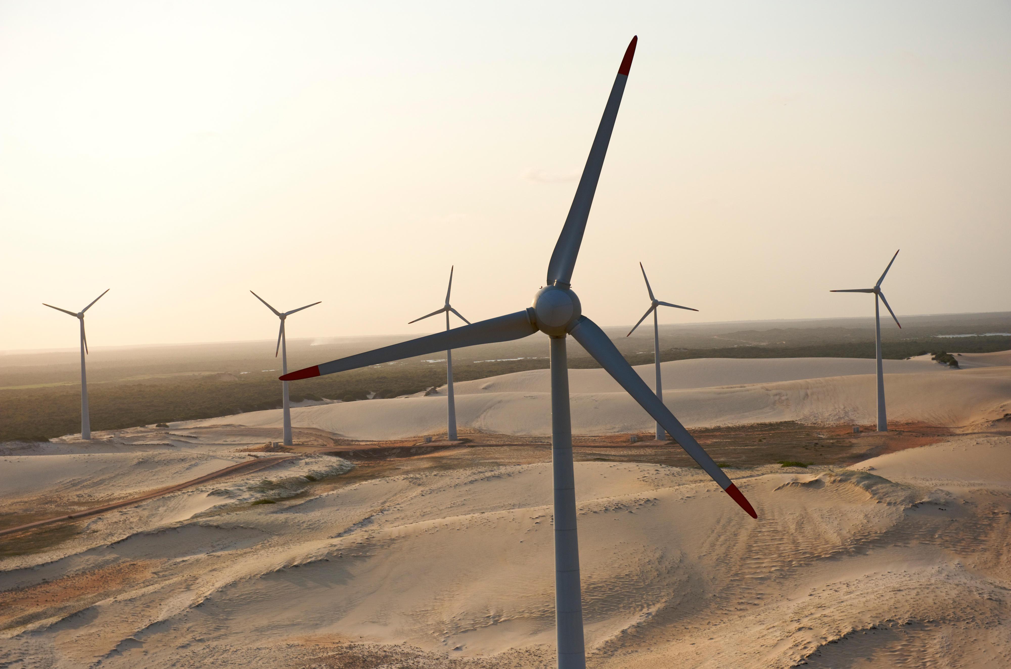 Windturbinen in Rio do Fogo, Brasilien