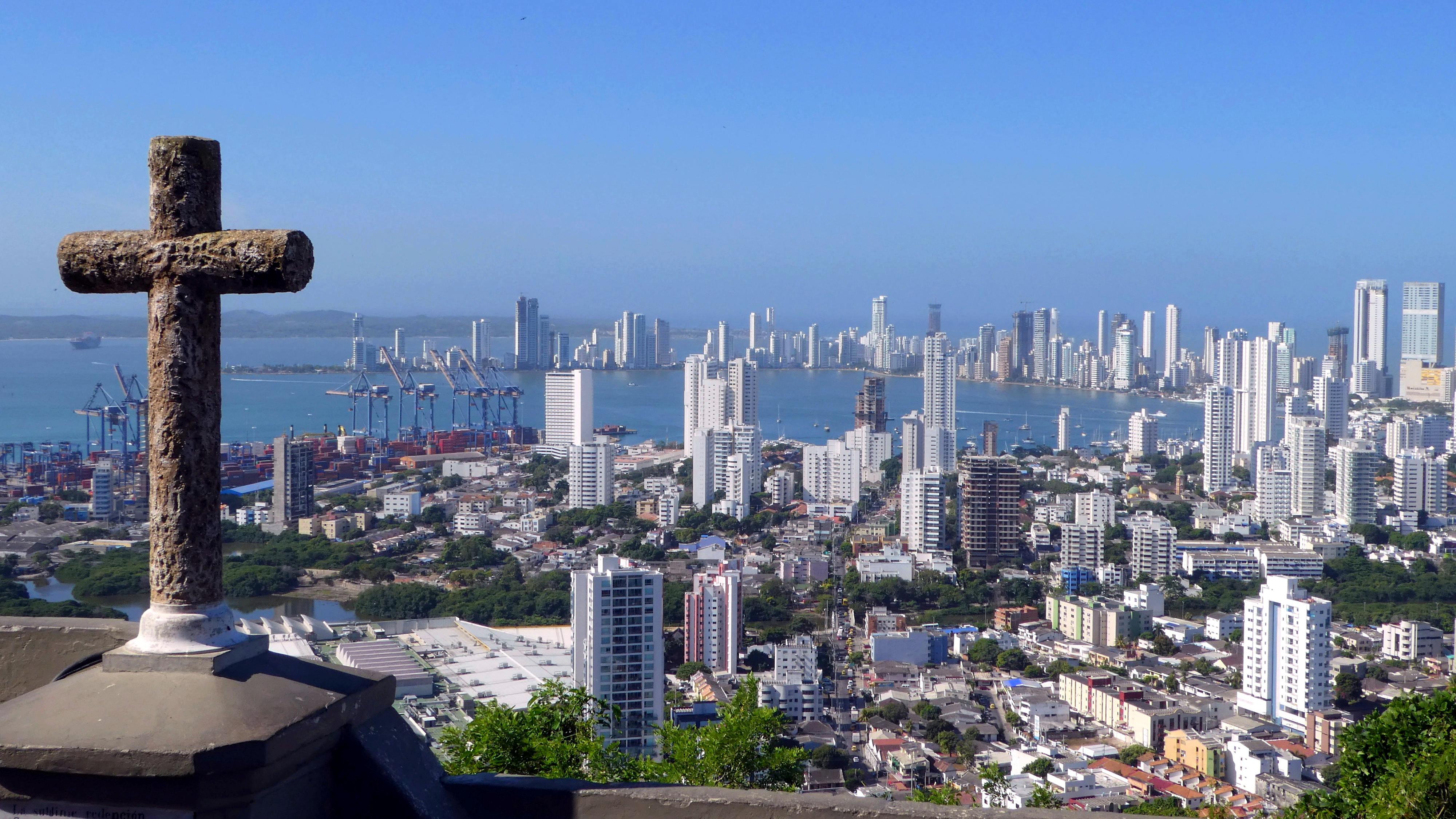Ansicht der Stadt Cartagena an der kolumbianischen Karibikküste