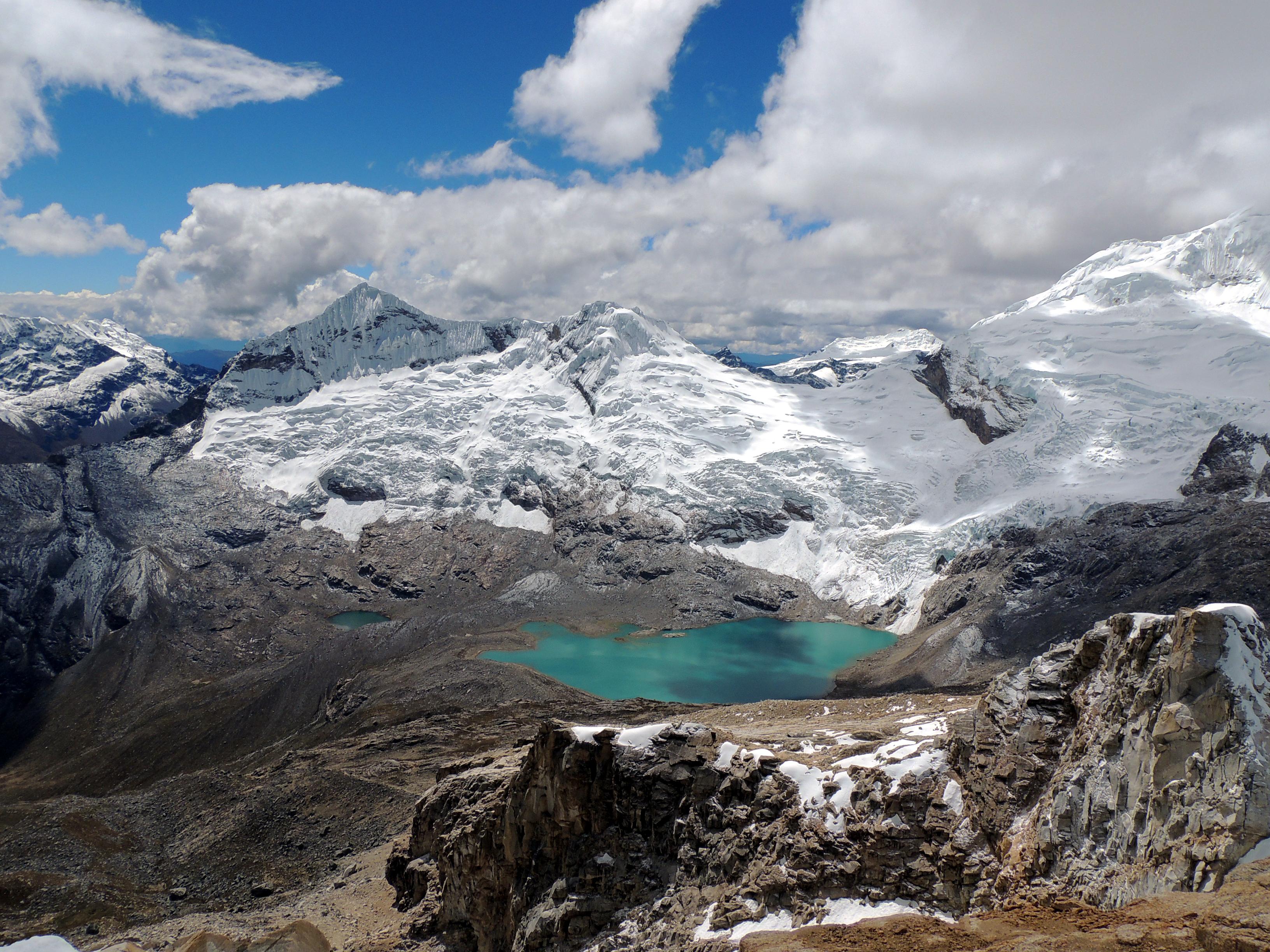 Gletscher im Nationalpark Huascarán, Peru