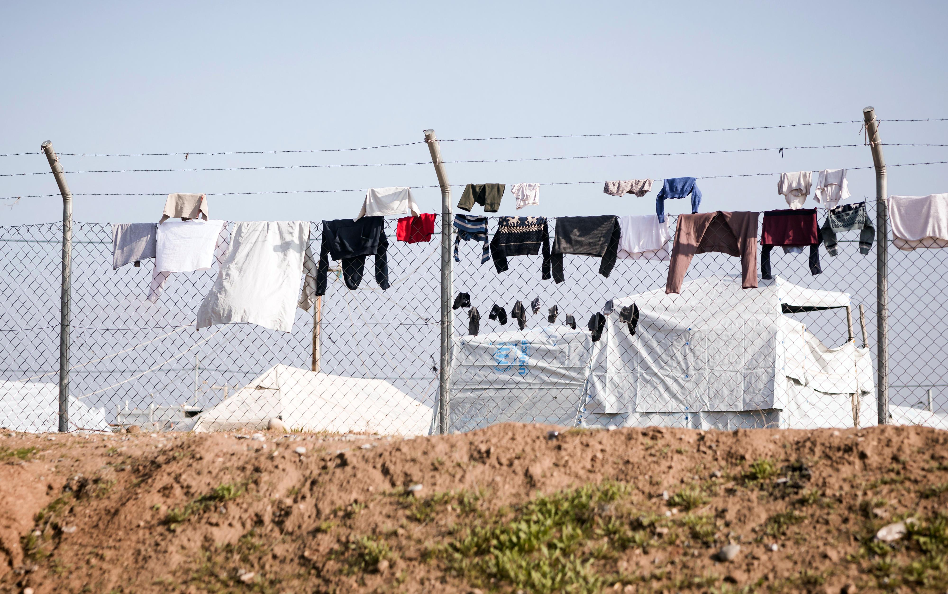 Das Lager Domiz für syrische Geflüchtete in Dohuk, Region Kurdistan-Irak