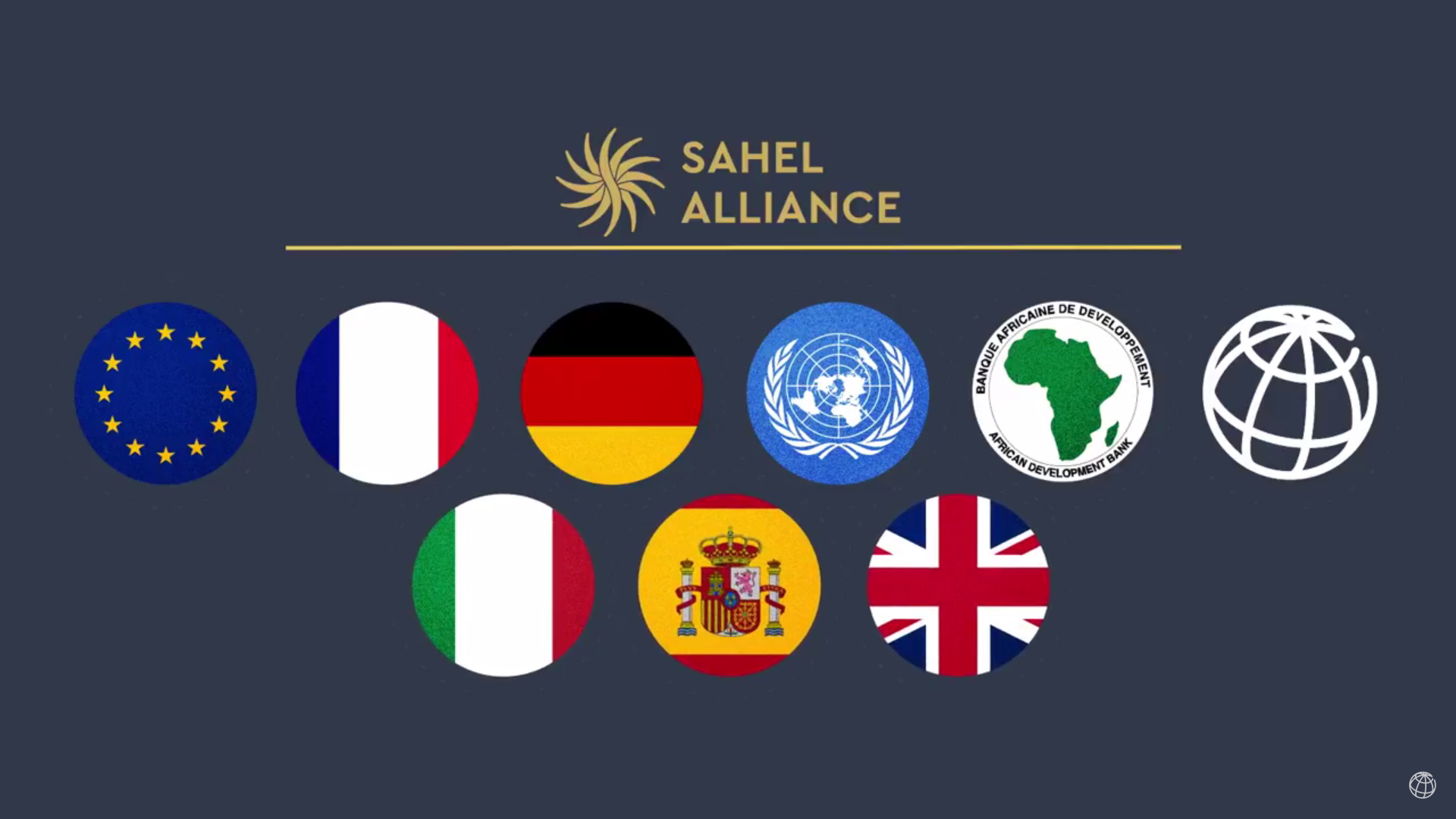 """Standbild aus dem Video """"The Sahel Alliance: Working Together to Tackle Shared Problems"""""""