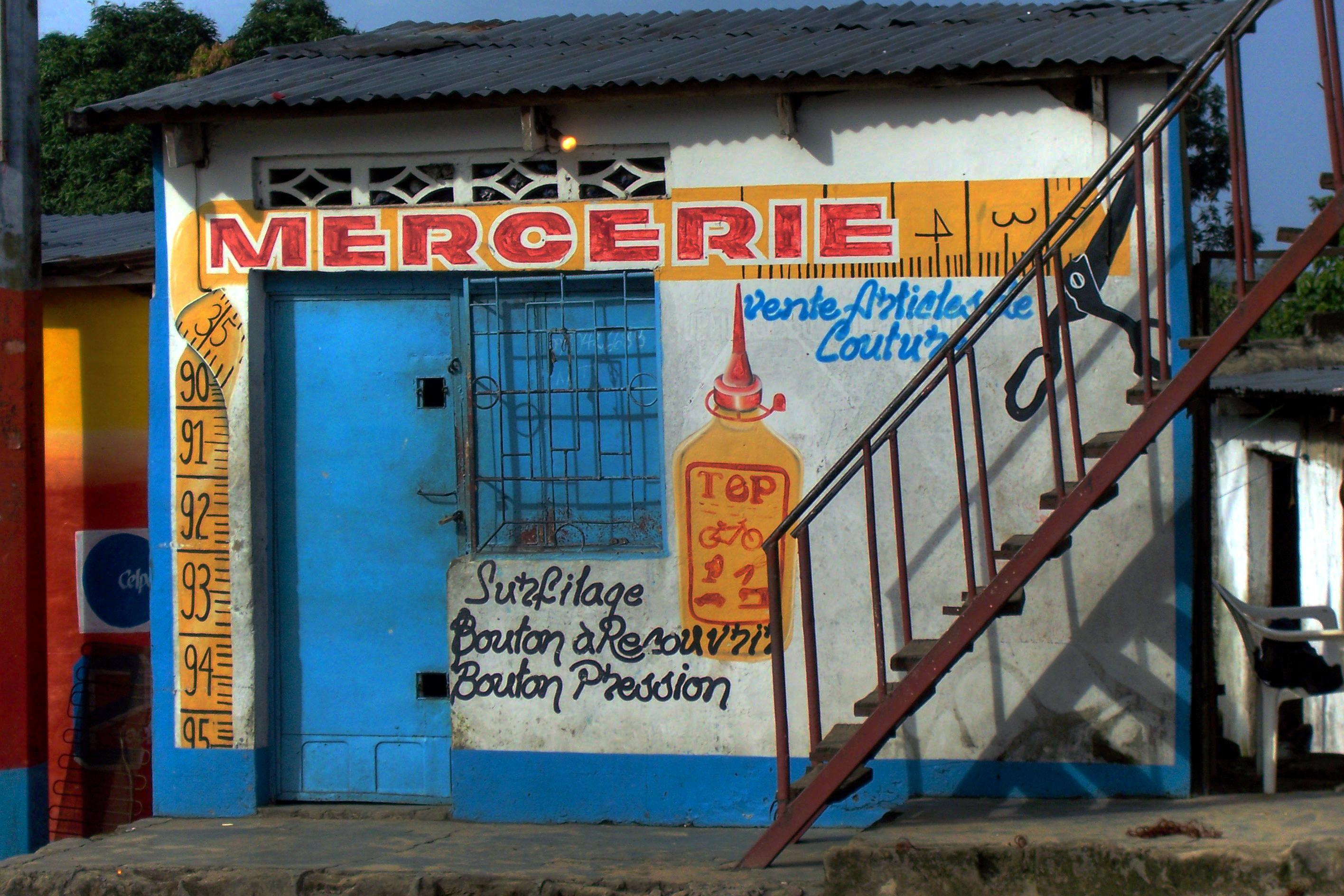 Kurzwarenladen in Kinshasa
