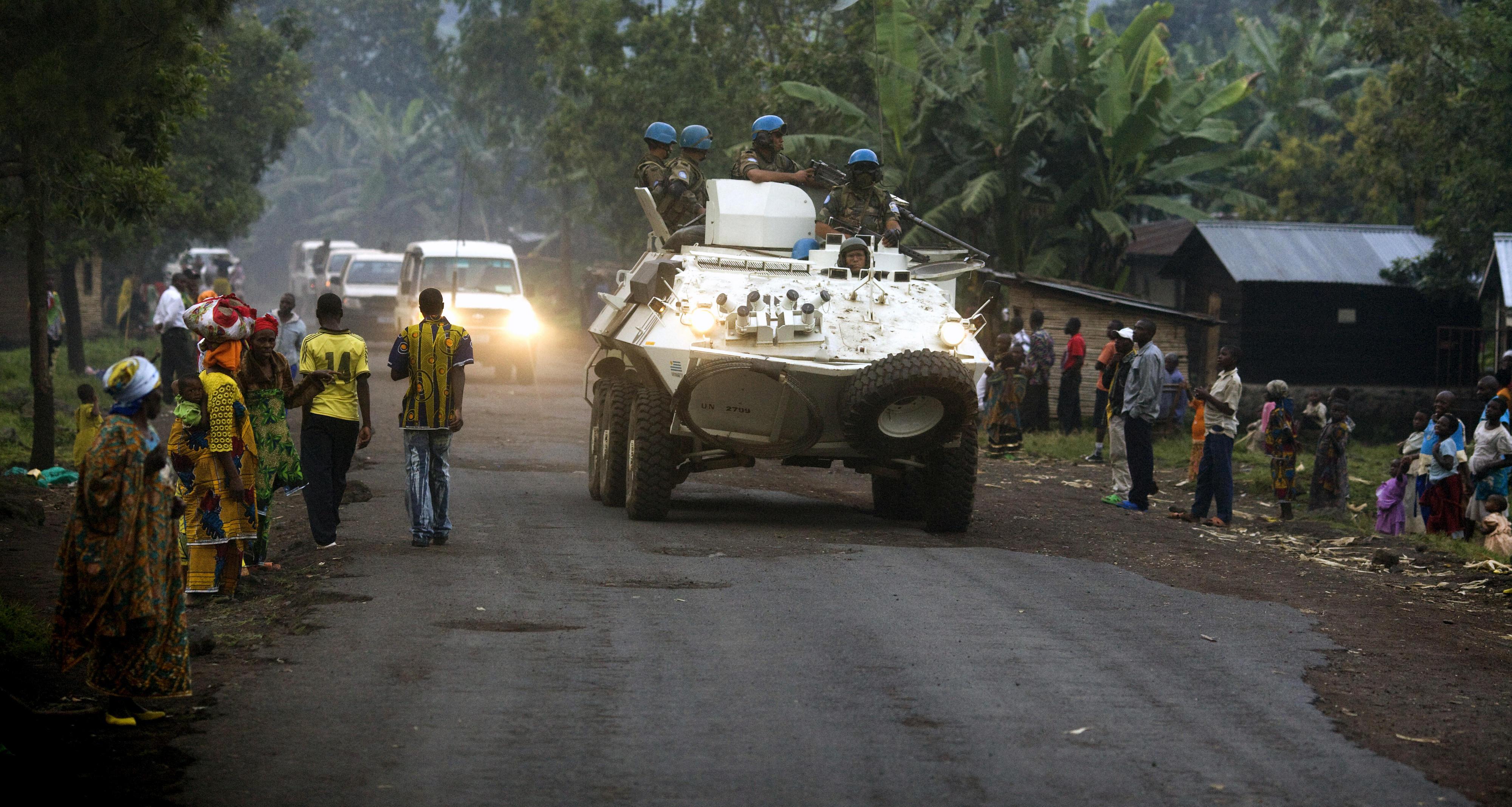 Panzer der UN-Mission in Rumangabo, DR Kongo