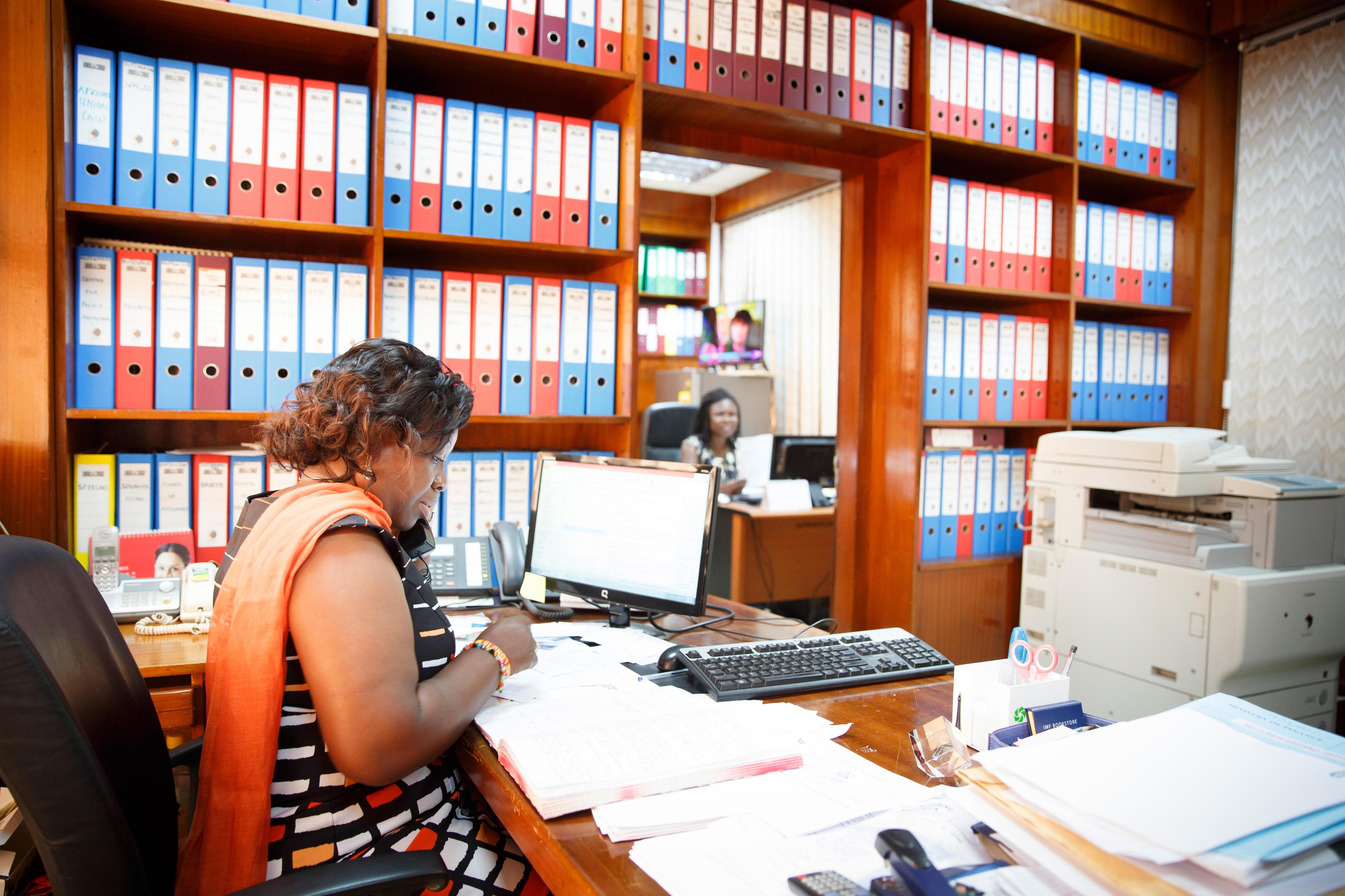 Angestellte im Finanzministerium in Ghana