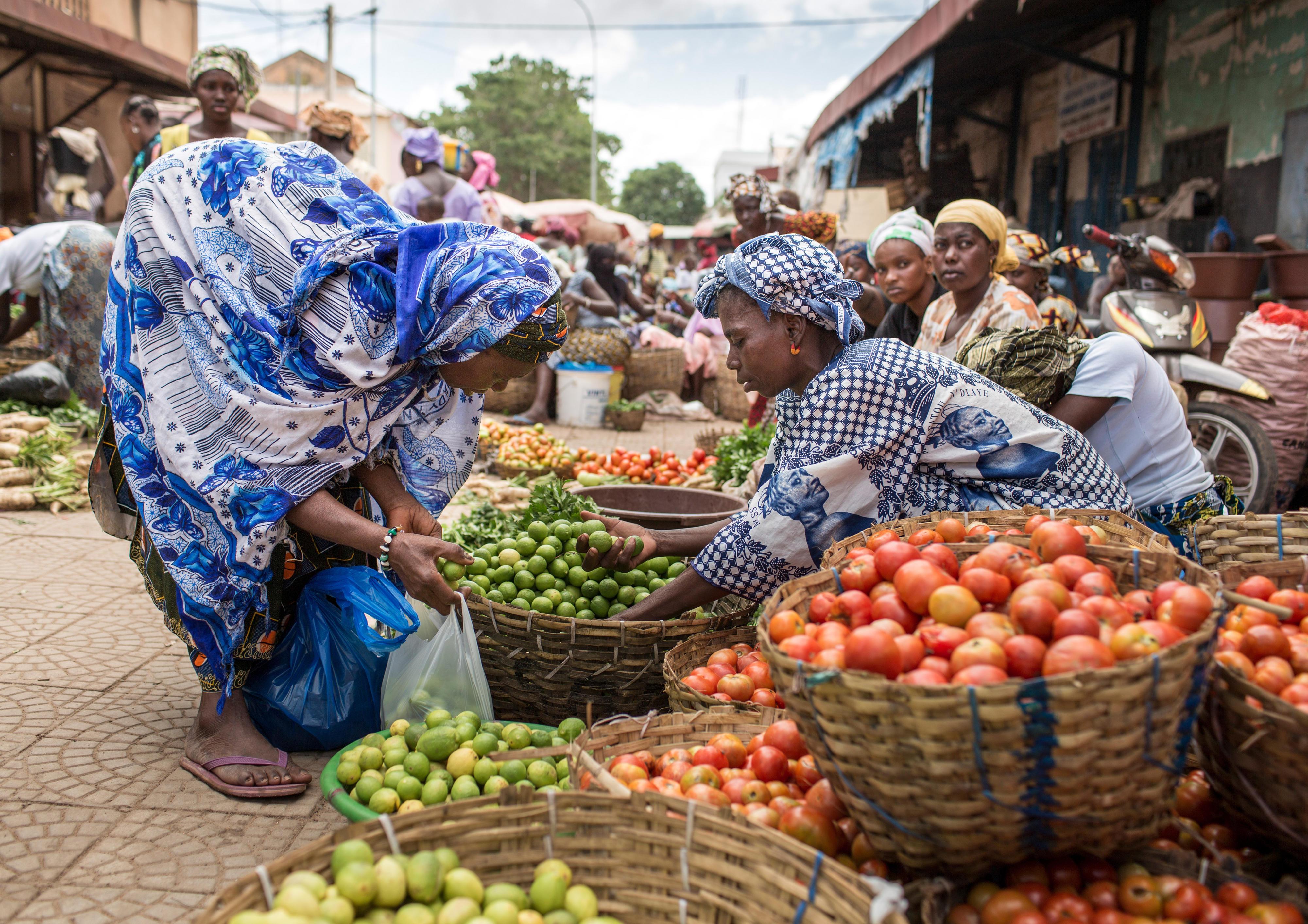 Marktszene in Bamako