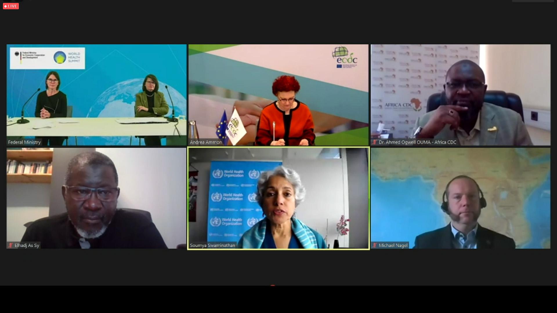 Teilnehmerinnen und Teilnehmer des World Health Summit, der in digitaler Form abgehalten wurde