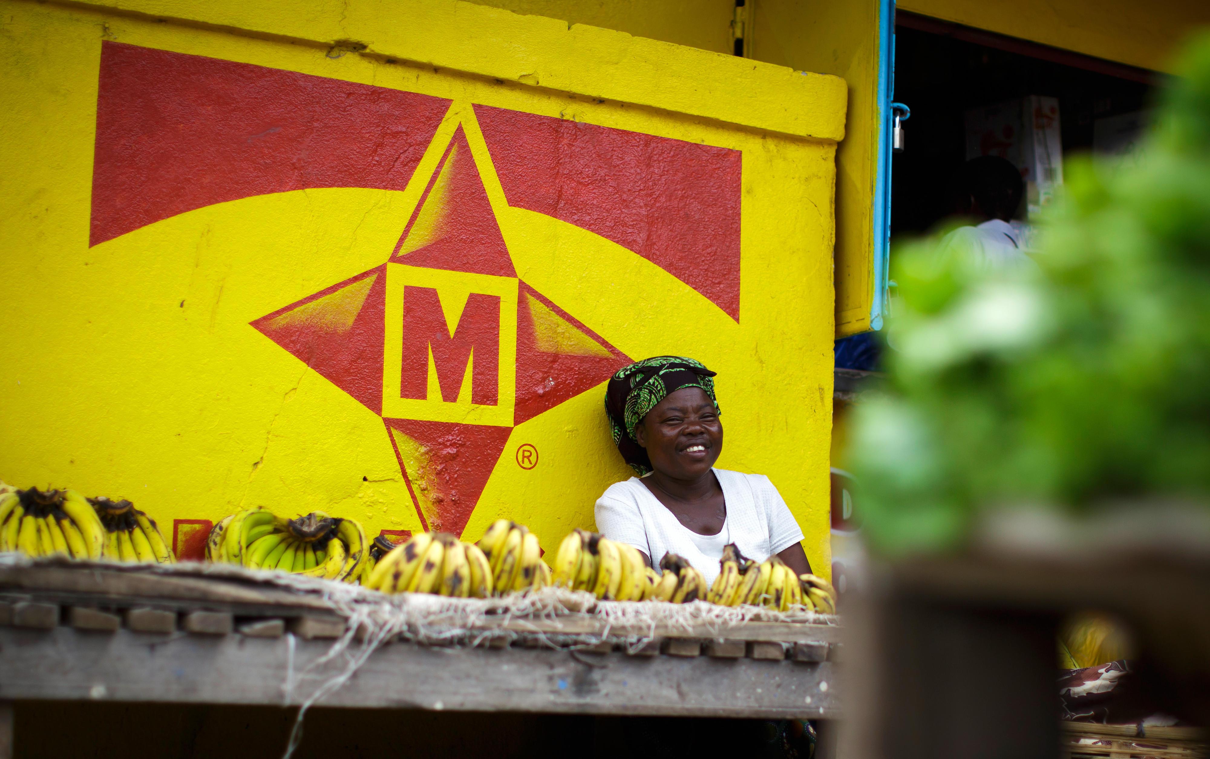 Gemüsehändlerin in Mosambik