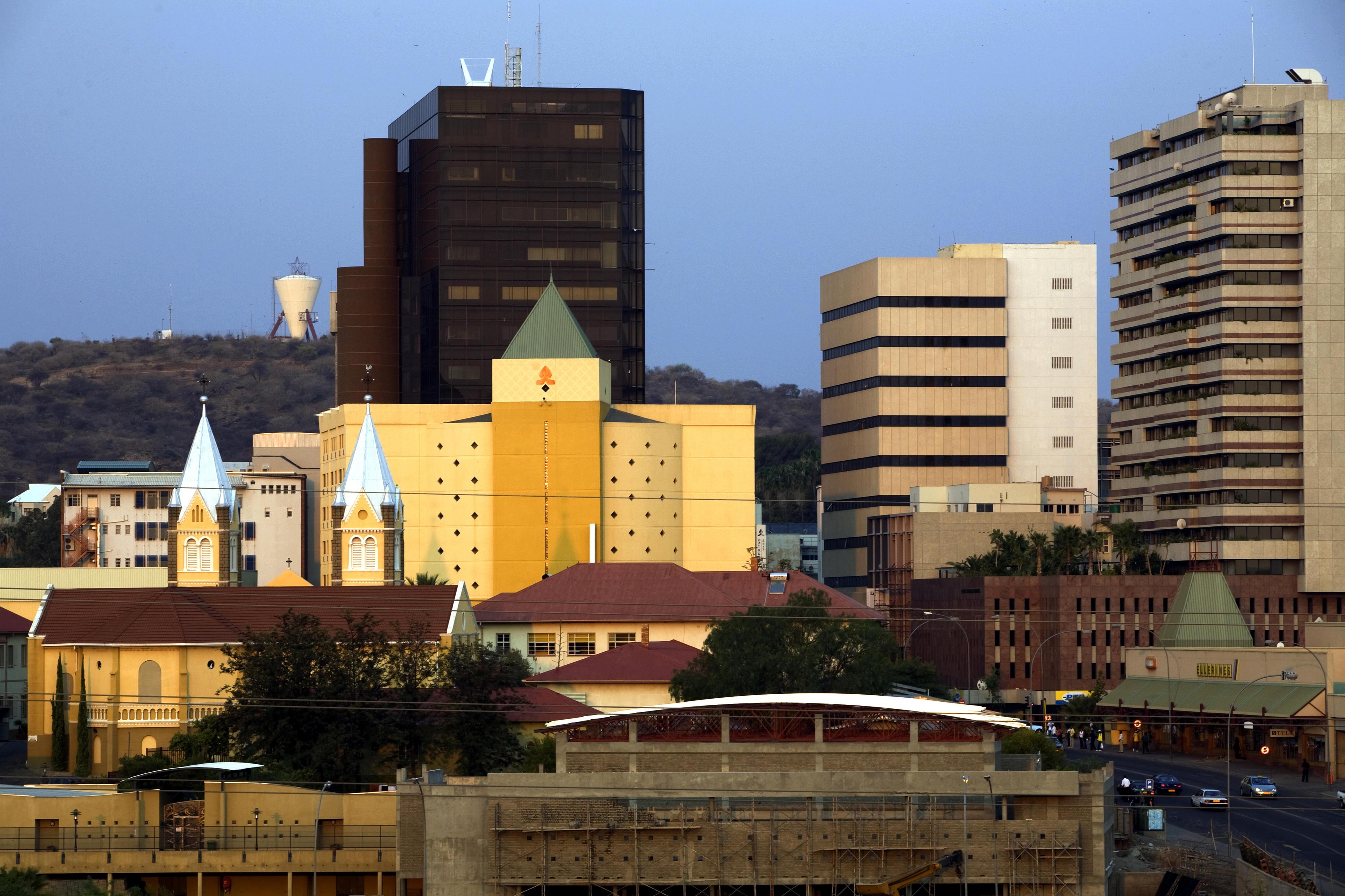 Ansicht der namibischen Hauptstadt Windhuk