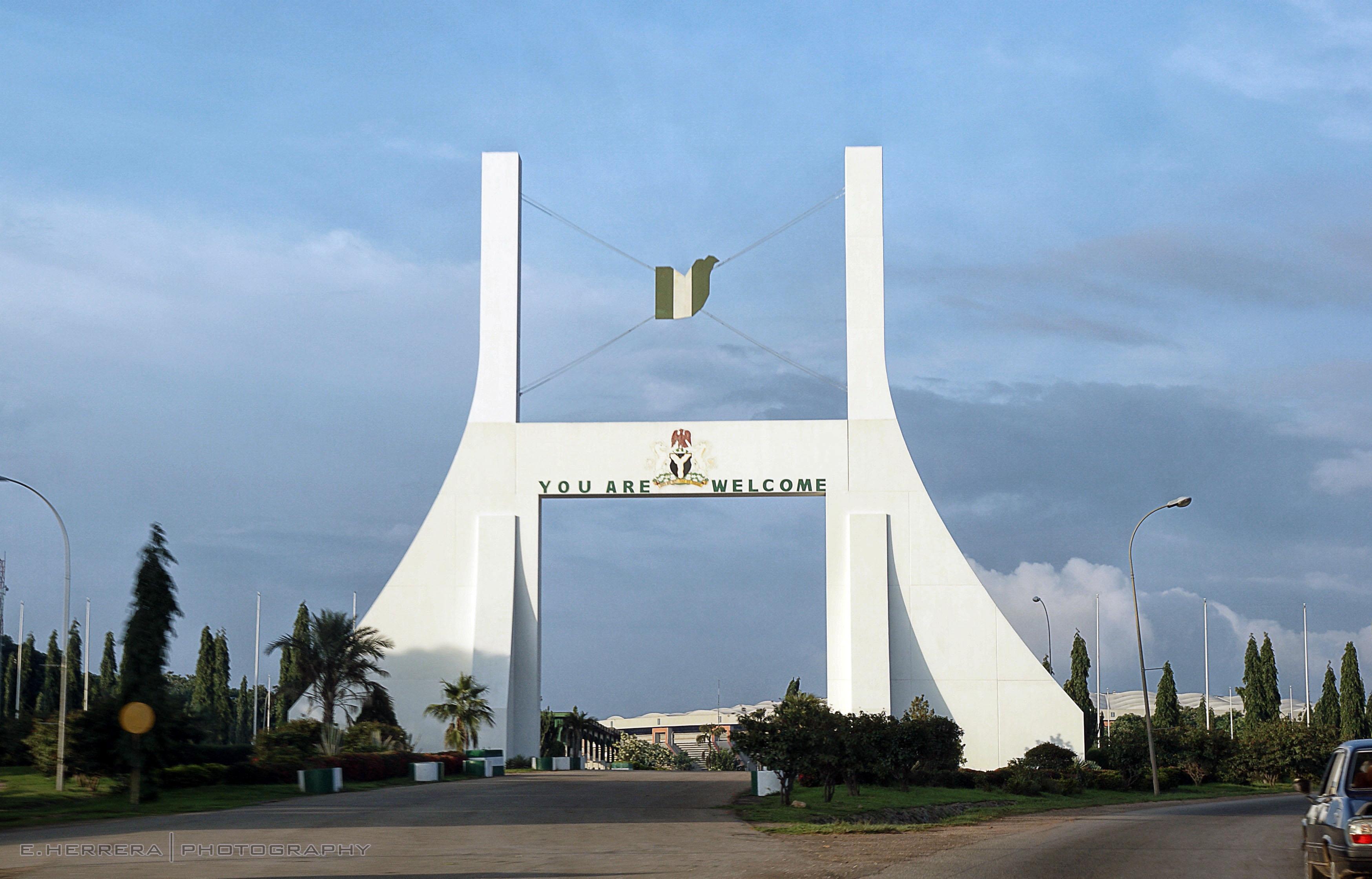 Tor in der nigerianischen Hauptstadt Abuja