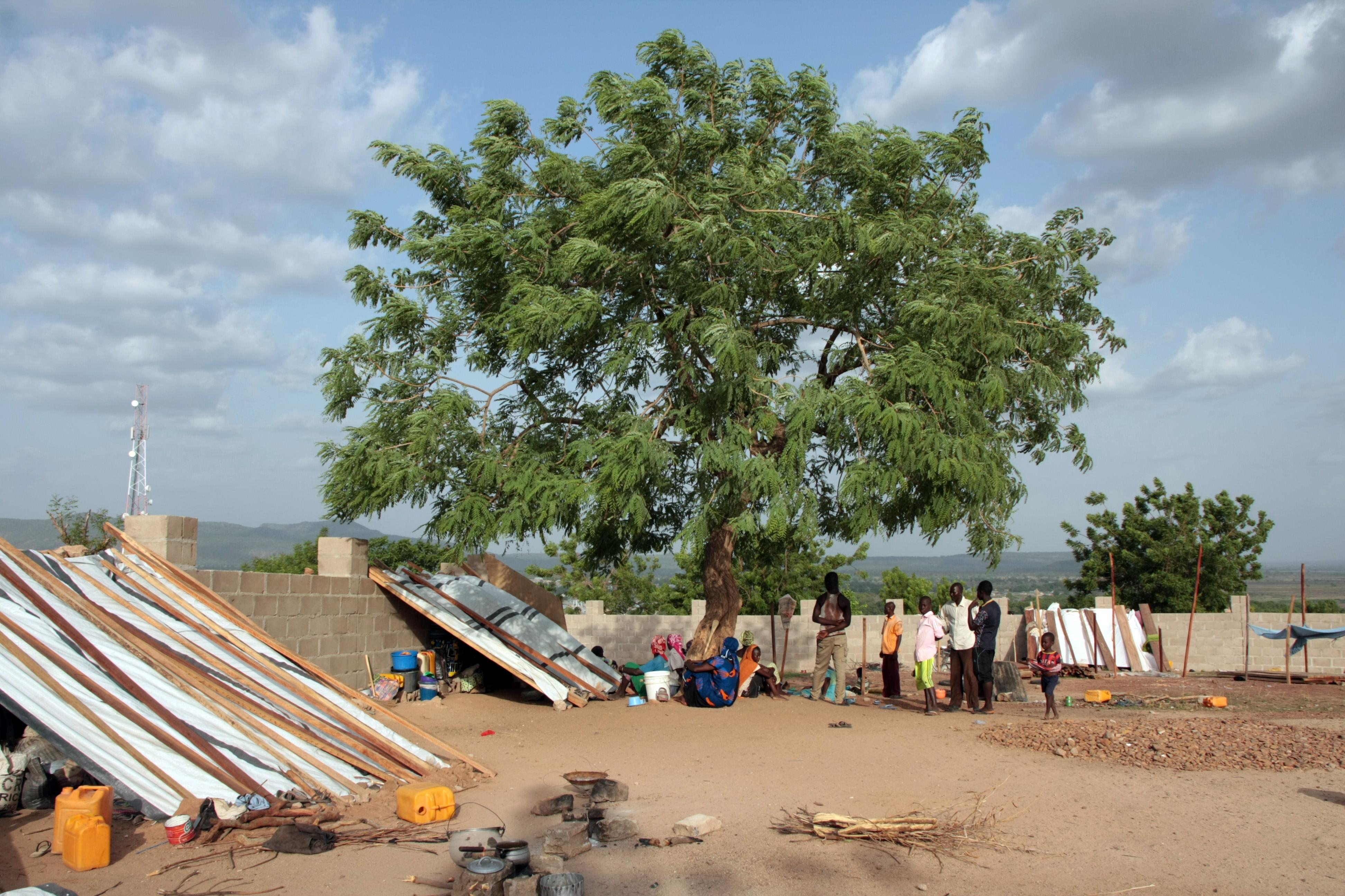 Binnenvertriebene in der ostnigerianischen Stadt Yola, die vor Boko Haram geflohen sind