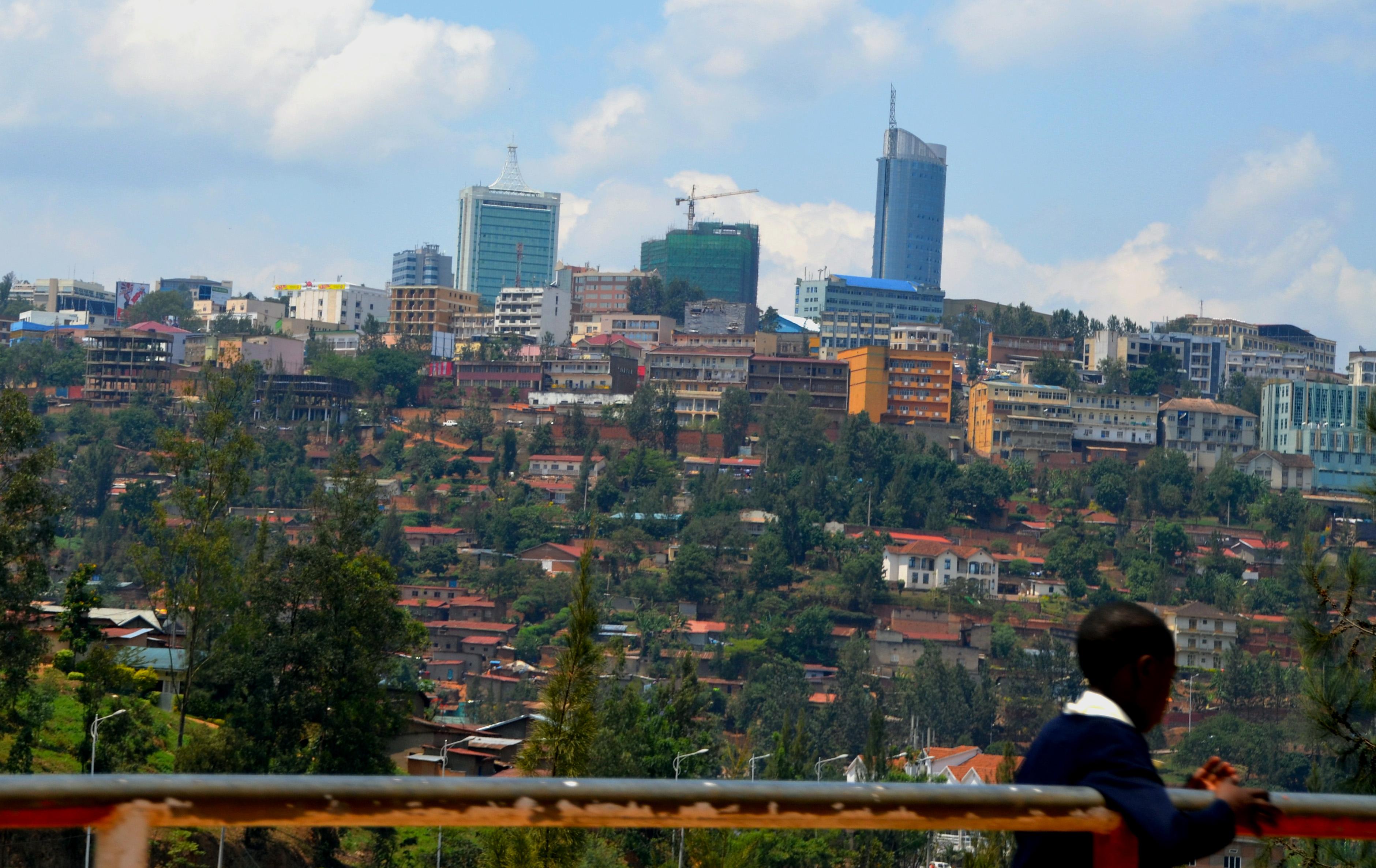 Blick auf Kigali vom Kigali Genocide Memorial Centre