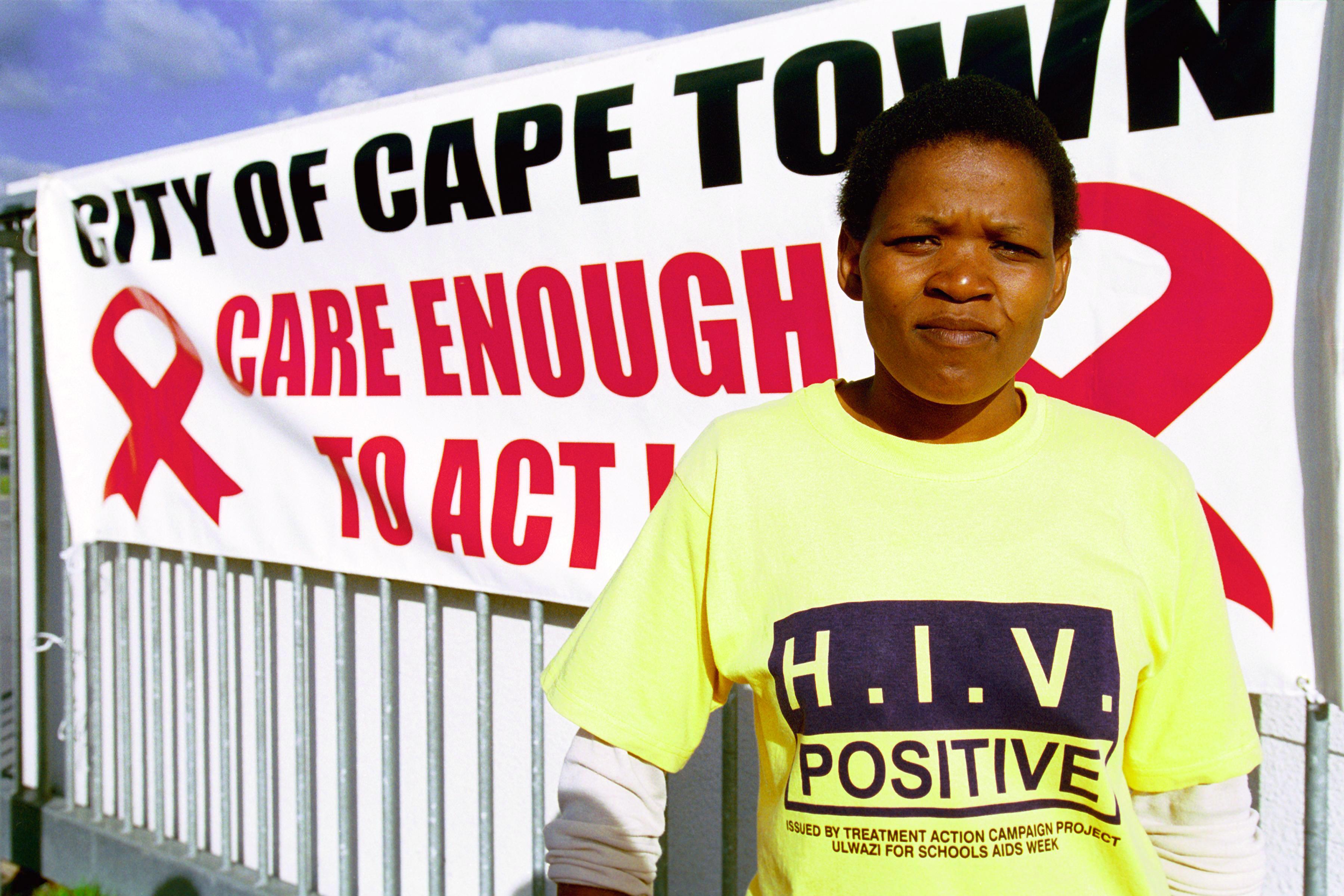 Aids-Sensibilisierungskampagne in Kapstadt