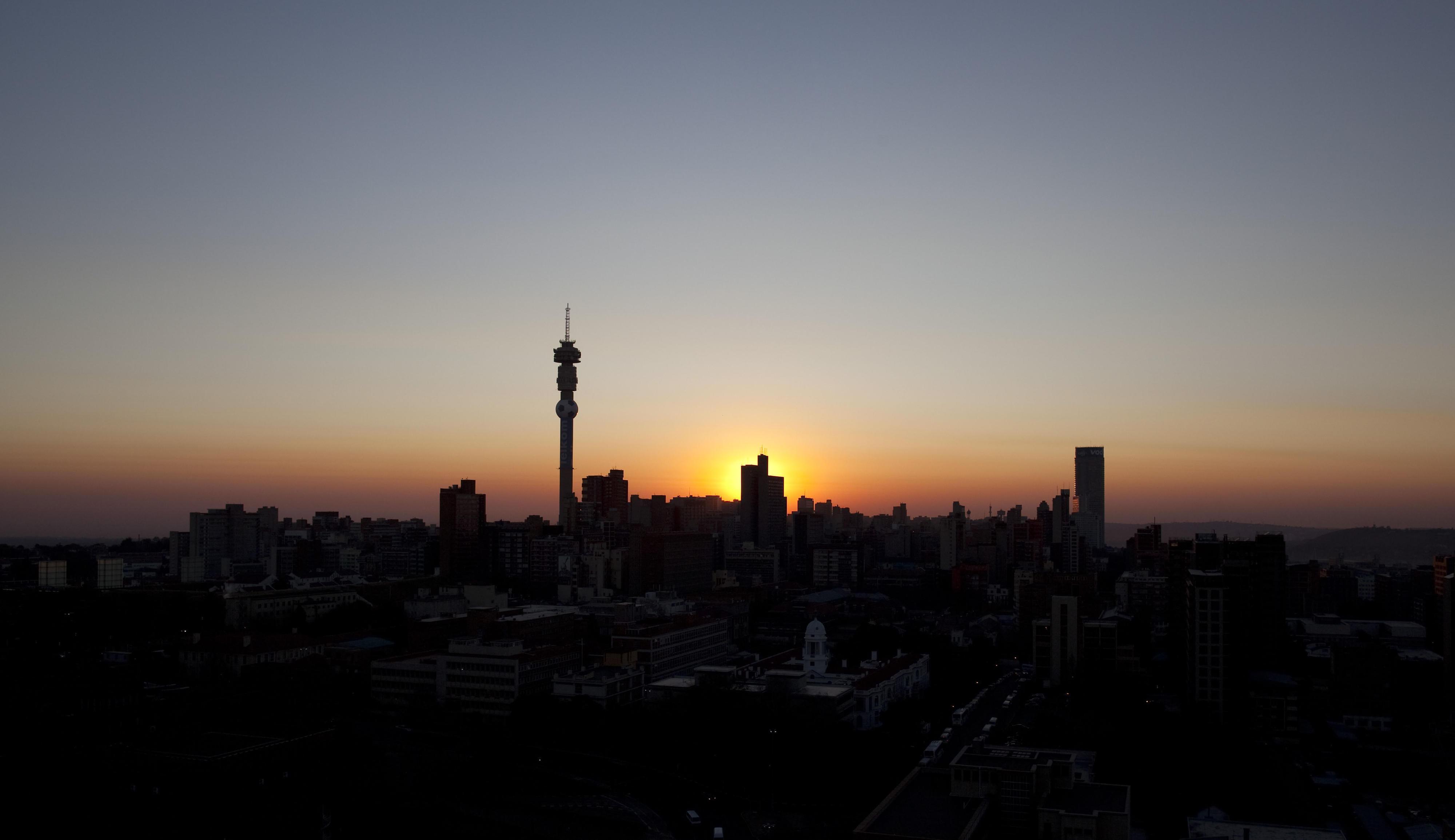 Sonnenaufgang in Johannesburg