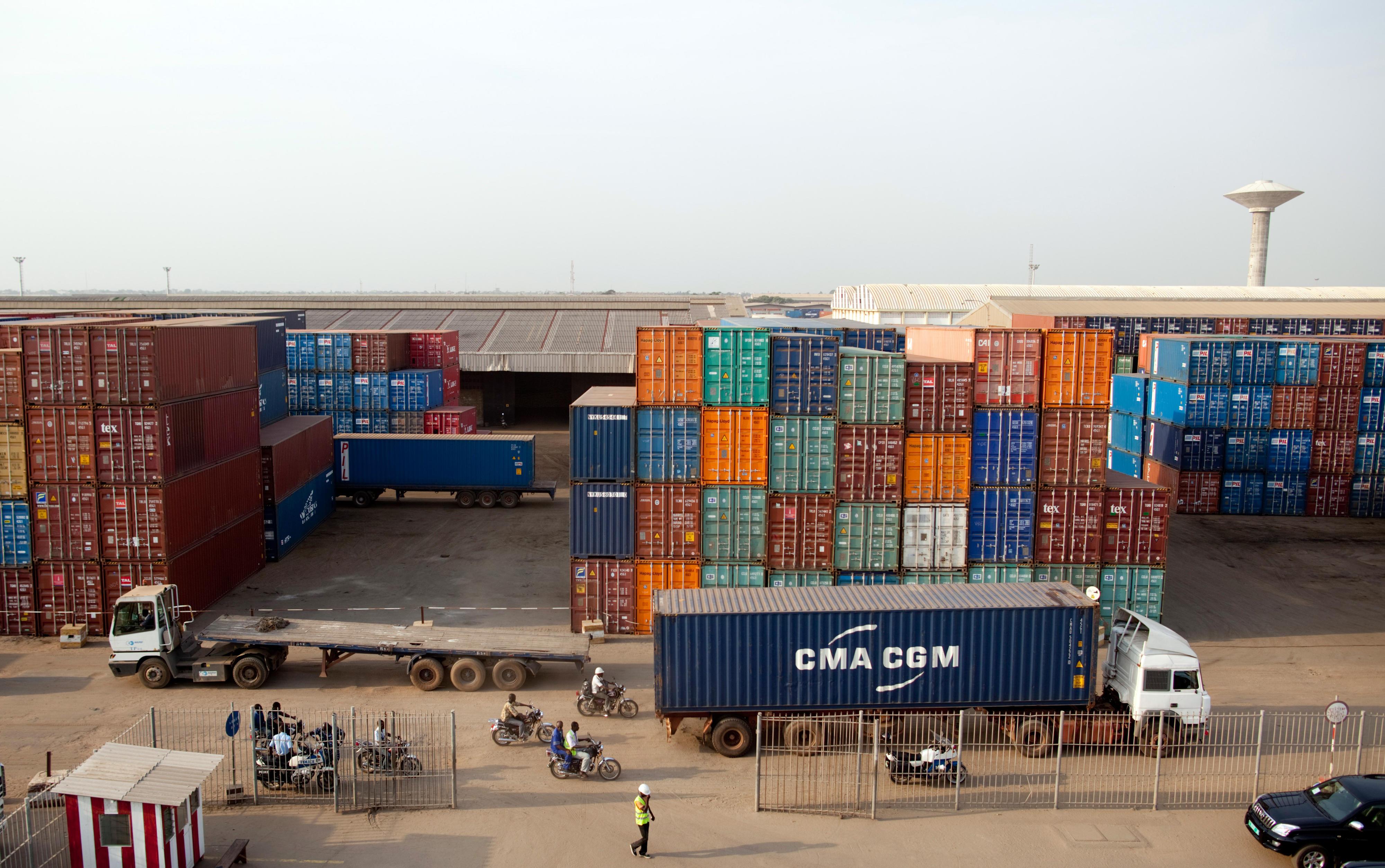 Hafen von Lomé, Togo