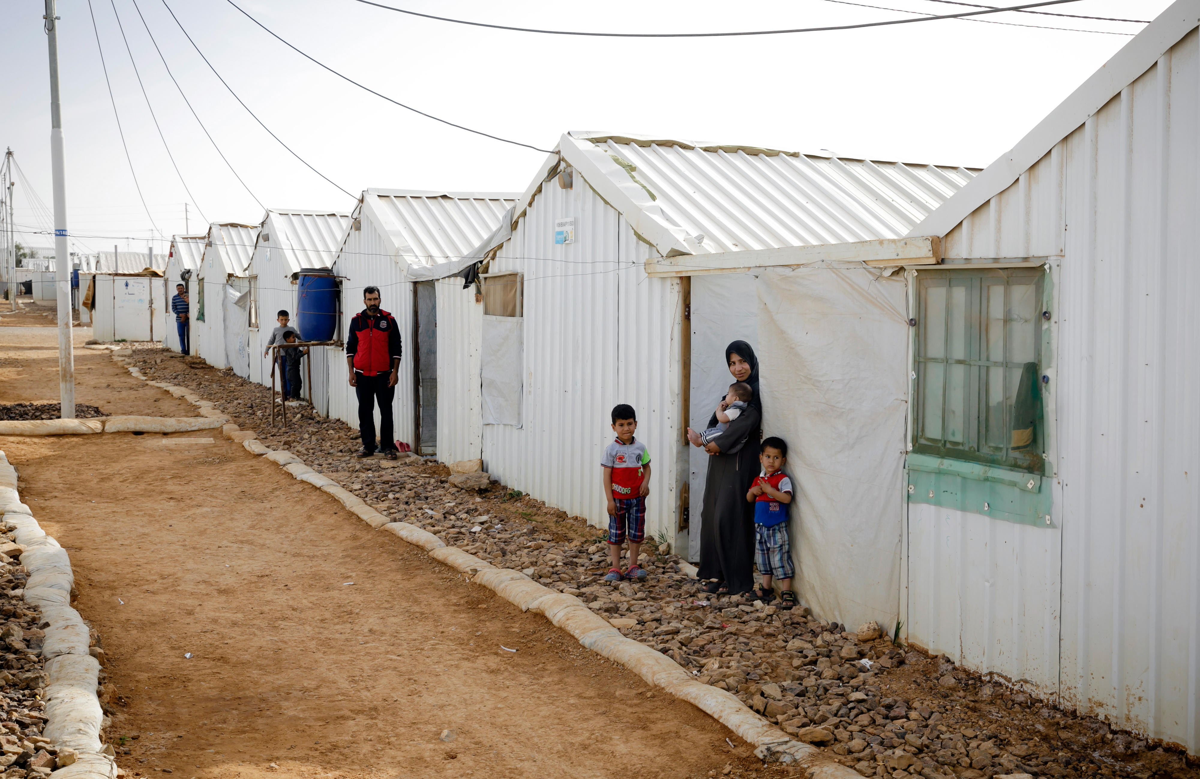 Al-Azraq refugee camp in Jordan