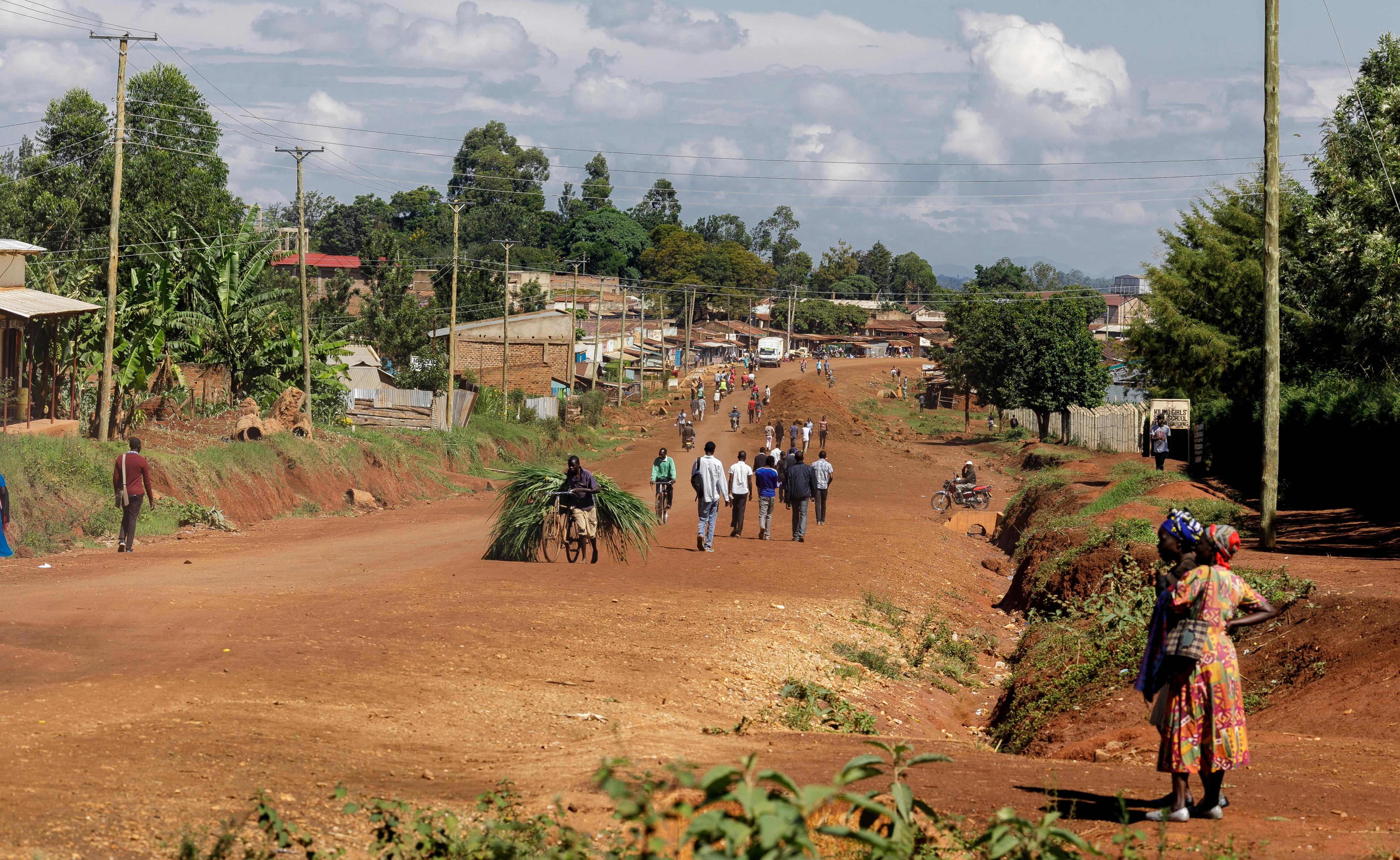Landstraße in Kakamega County, Kenia