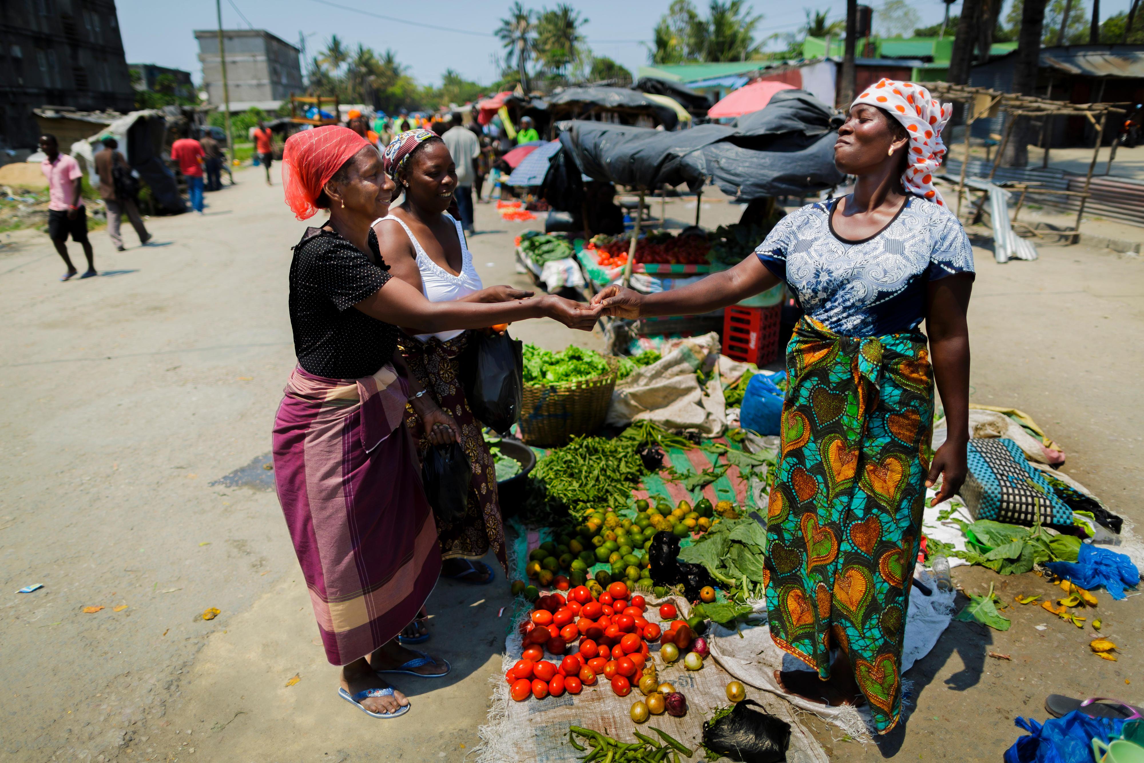 Marktszene in Mosambik
