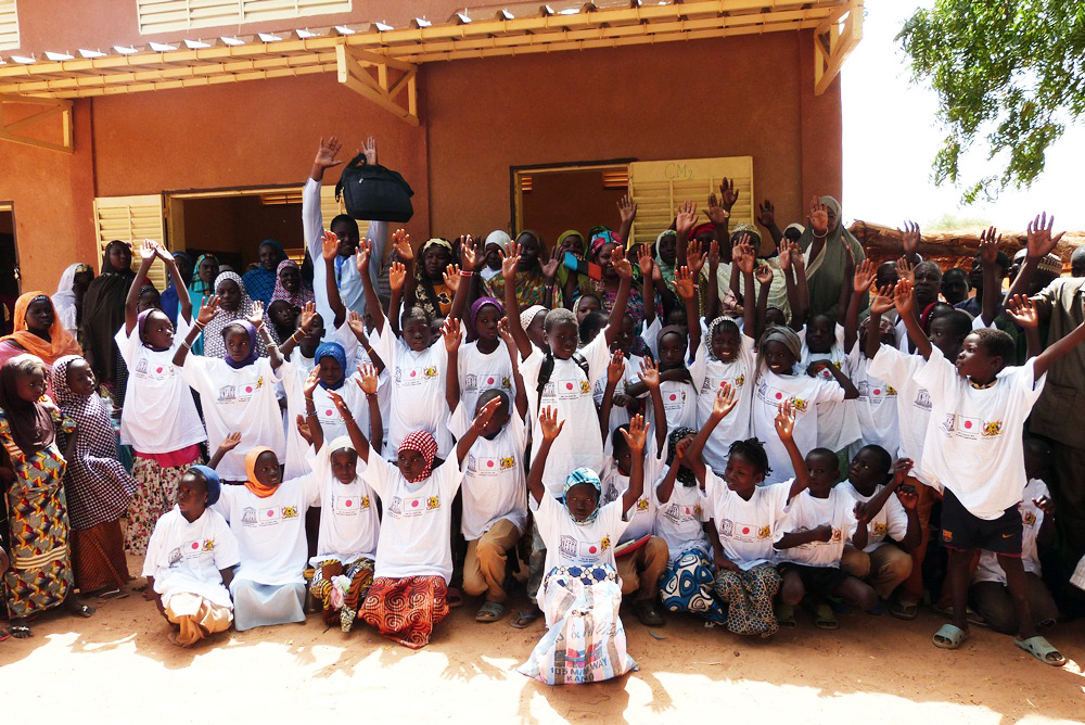 Participants in a pilot project to improve educational opportunities for girls in the Torodi region of Niger