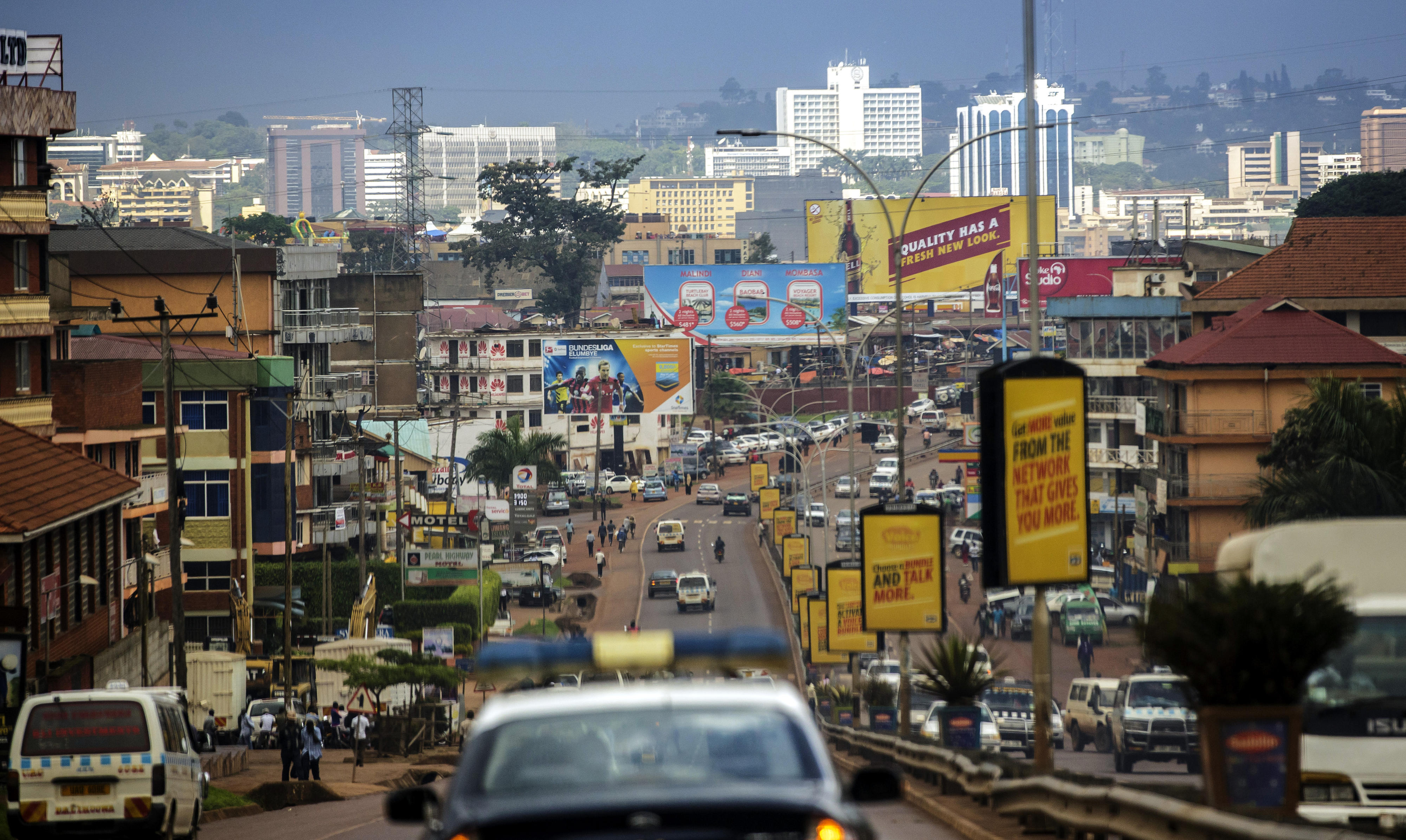 View of Kampala, the capital of Uganda