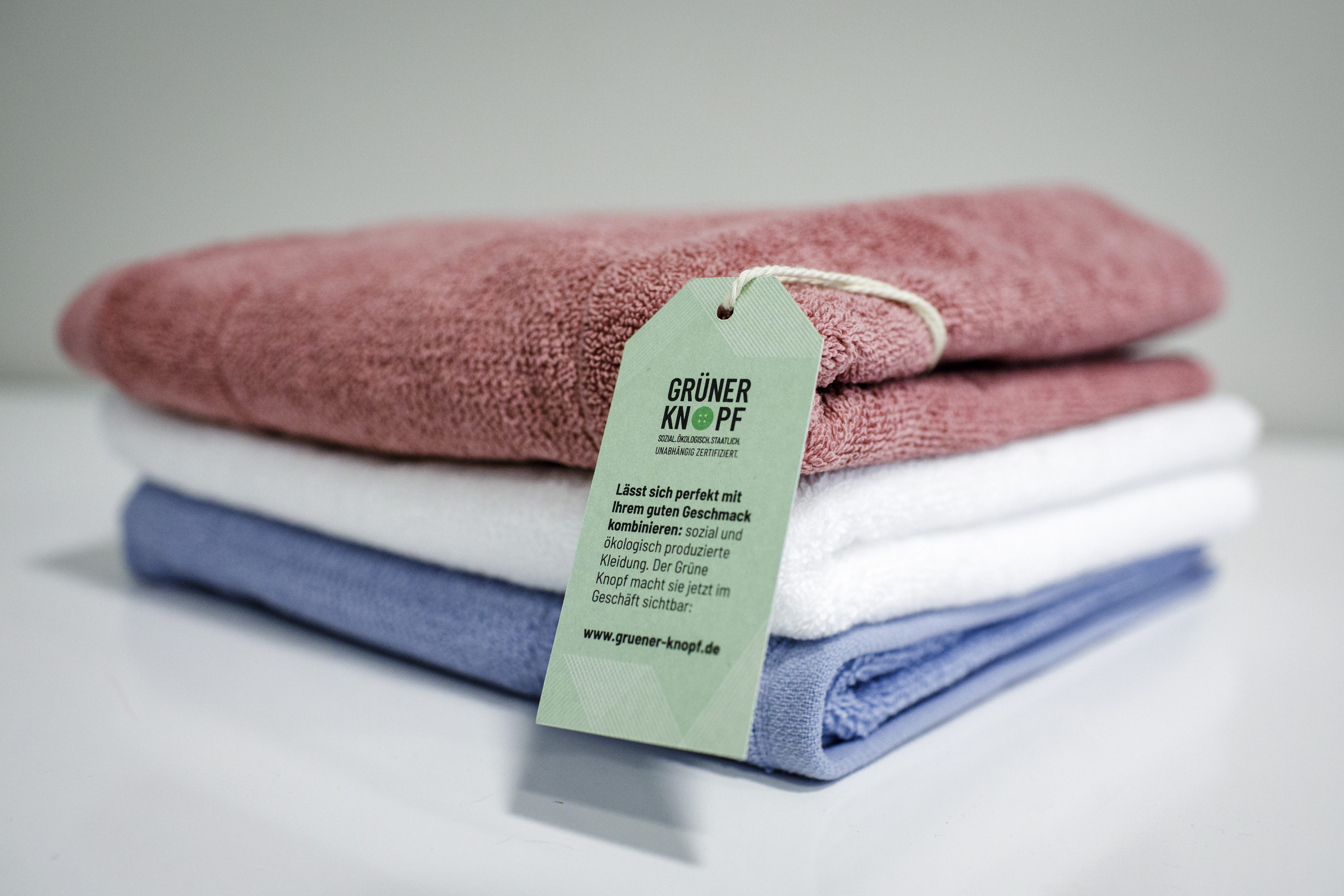 Towels certified with the Green Button