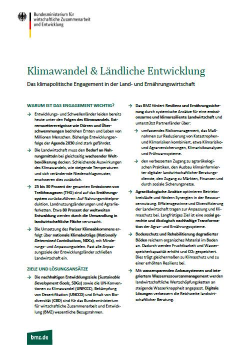 Cover: Klimawandel und ländliche Entwicklung