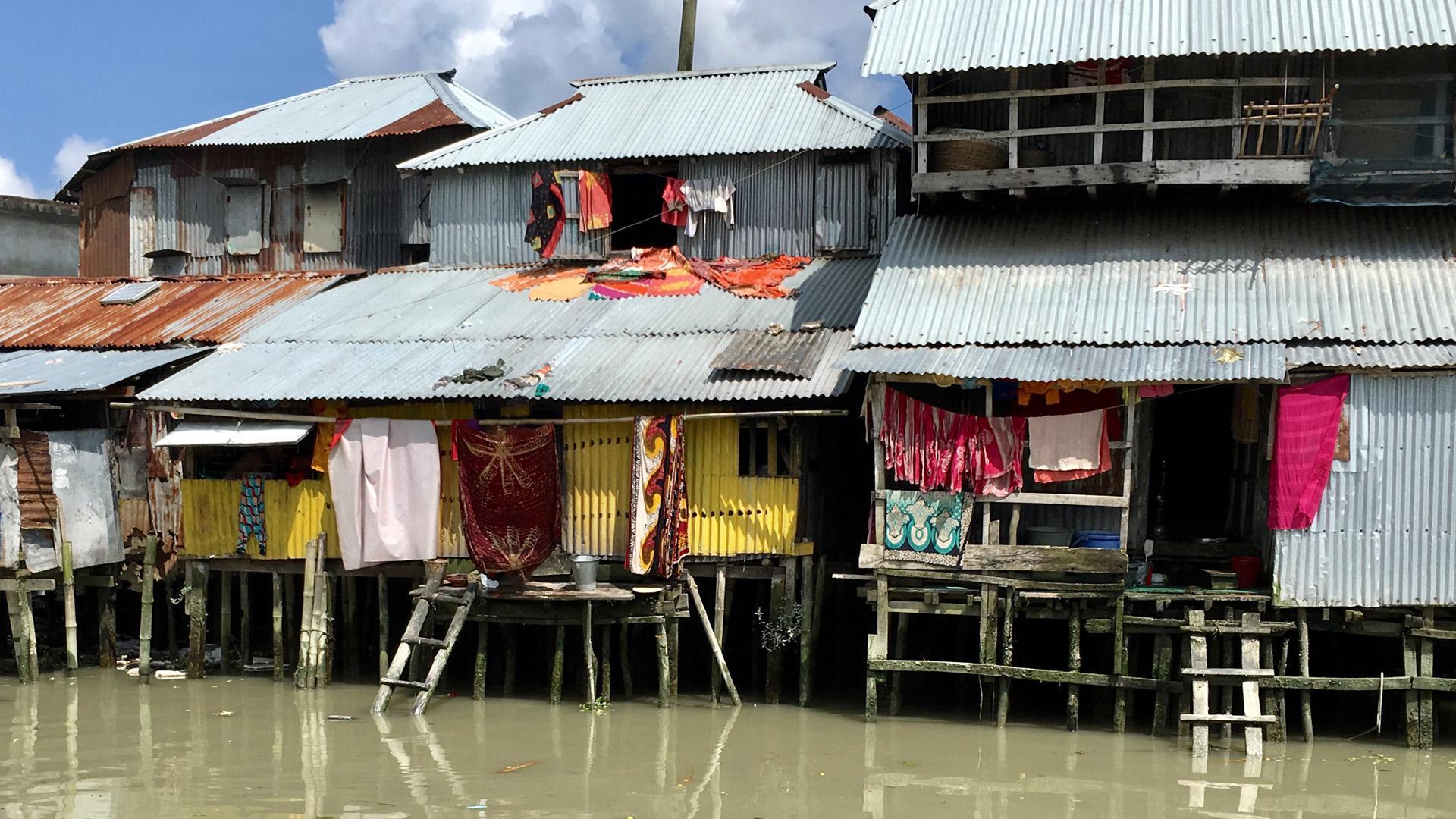 Überschwemmung in der Stadt Barisal in Bangladesch